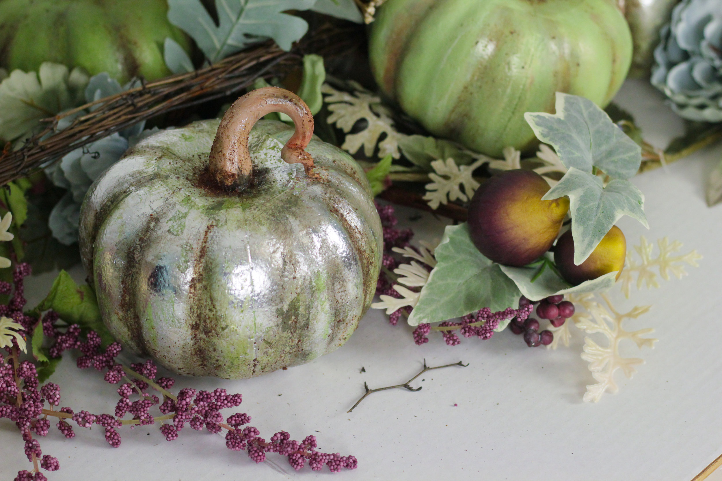 Dollar Tree DIY | Faux Mercury Glass Pumpkin
