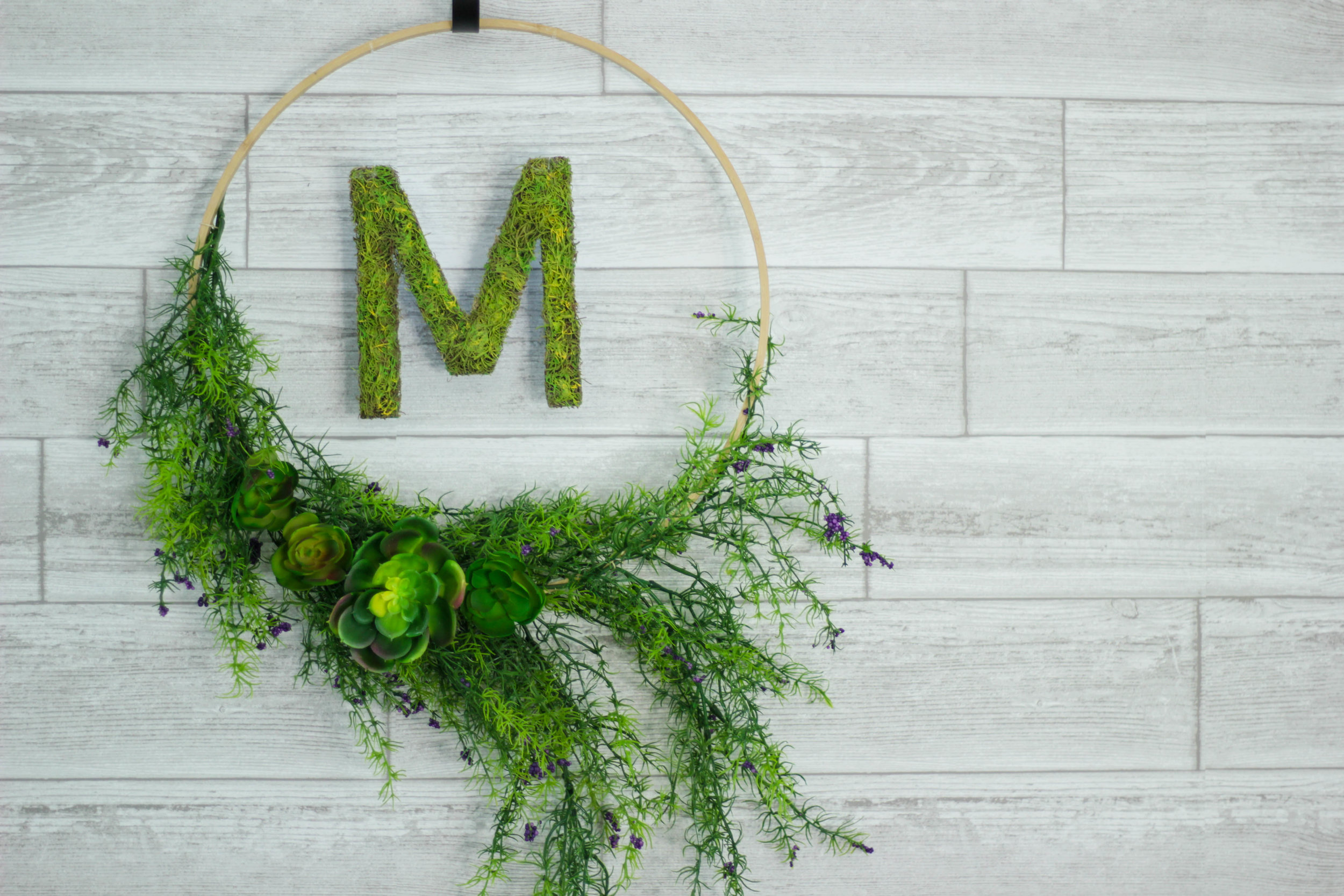 Floating Monogrammed Spring Wreath (COMING SOON)