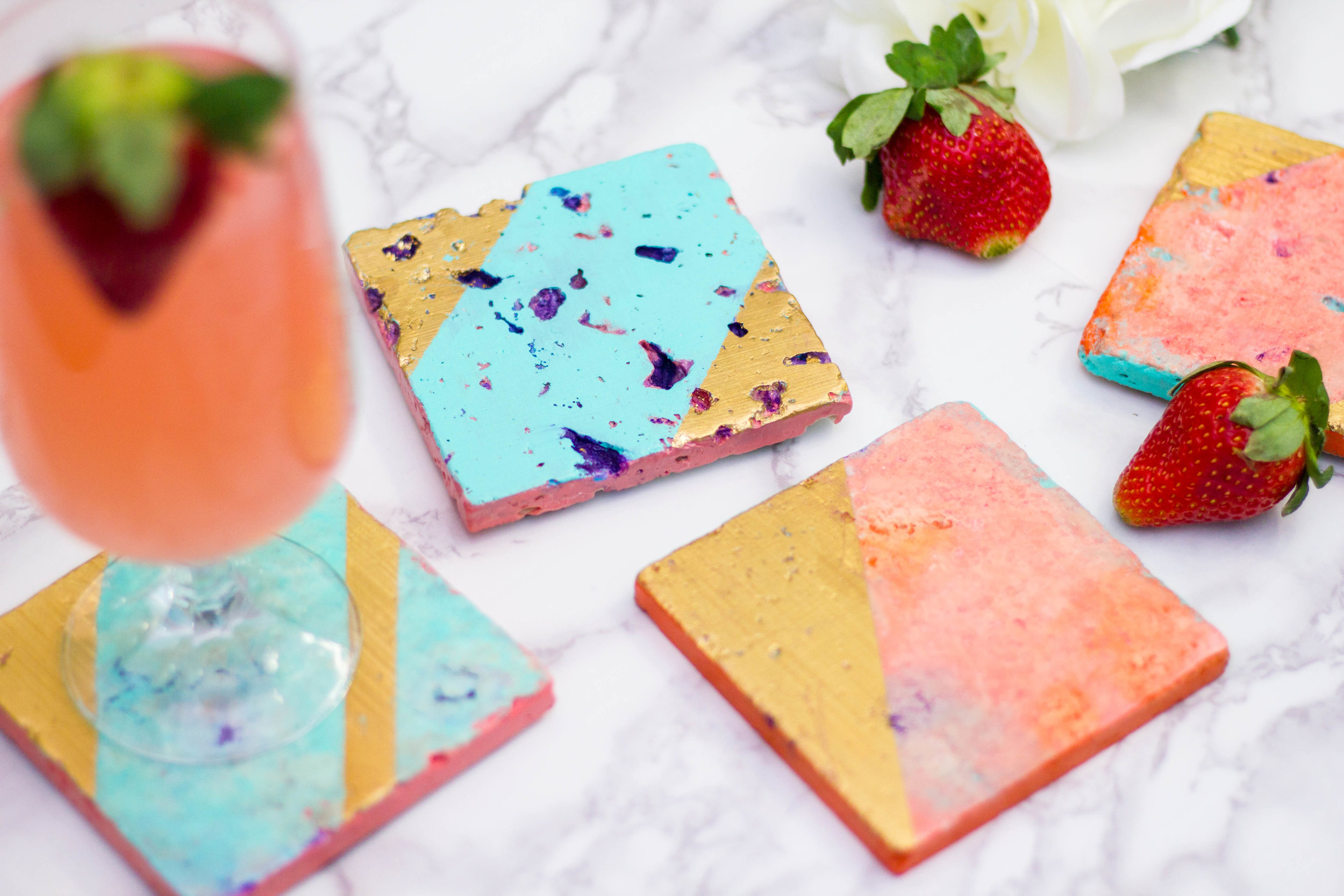 DIY Colorful Tile Coasters (COMING SOON)