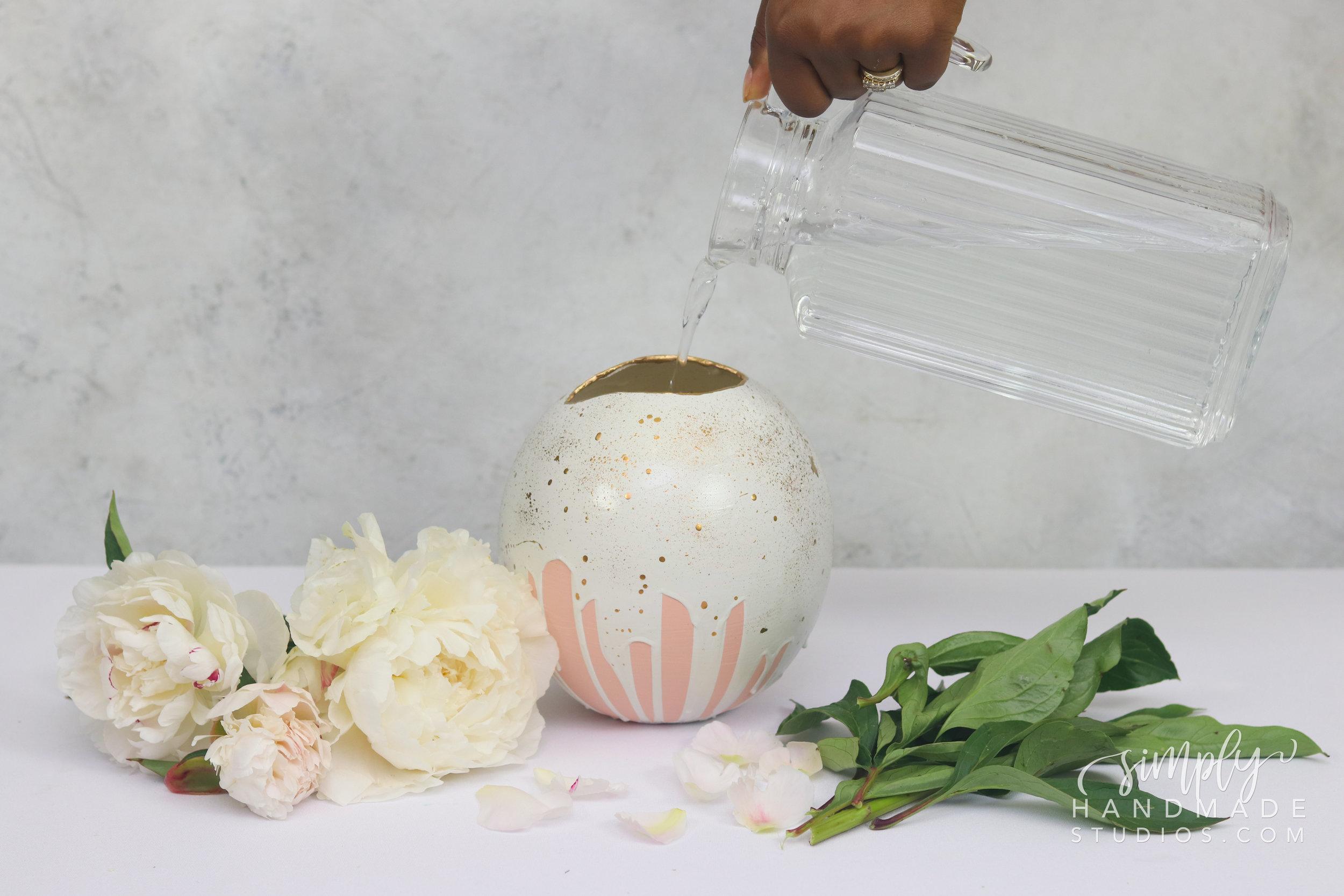 DIY Plaster Flower Vase - Simply Handmade Studios
