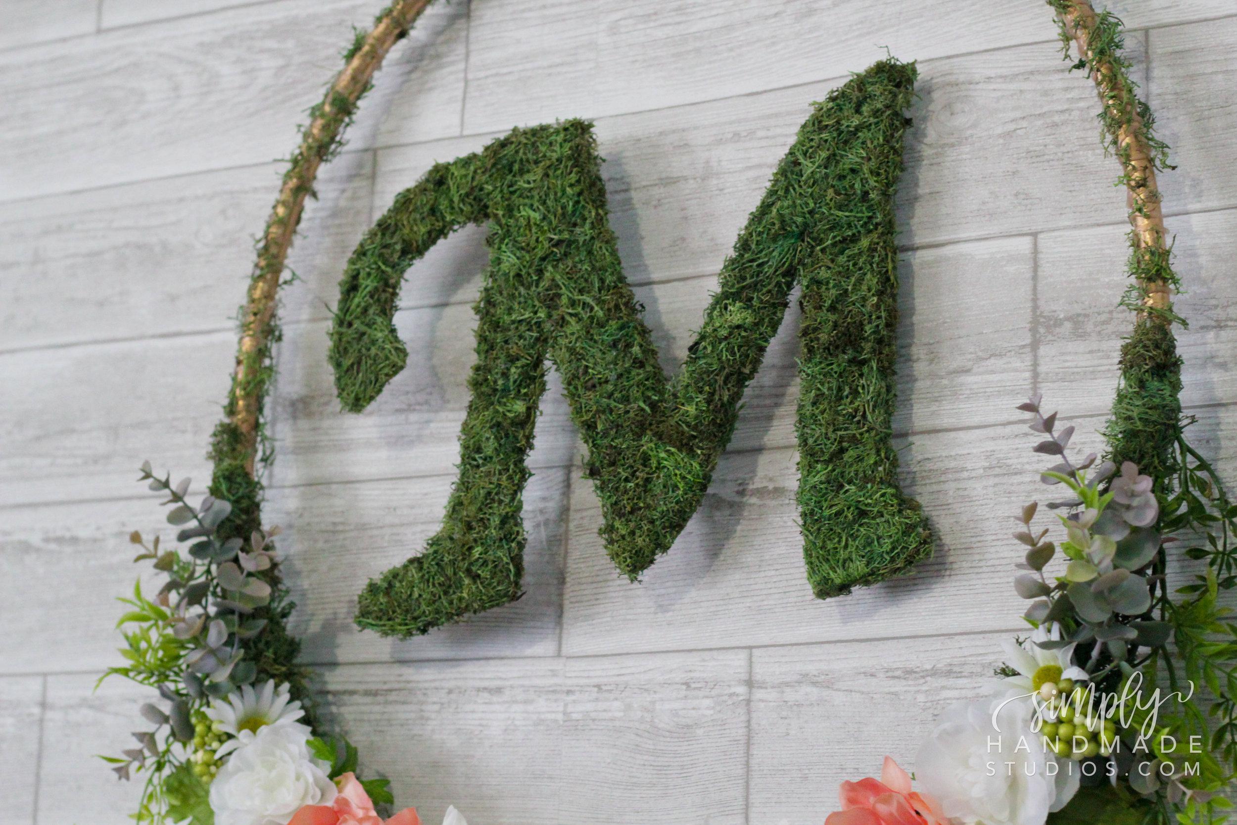 DIY Moss Decorative Letters