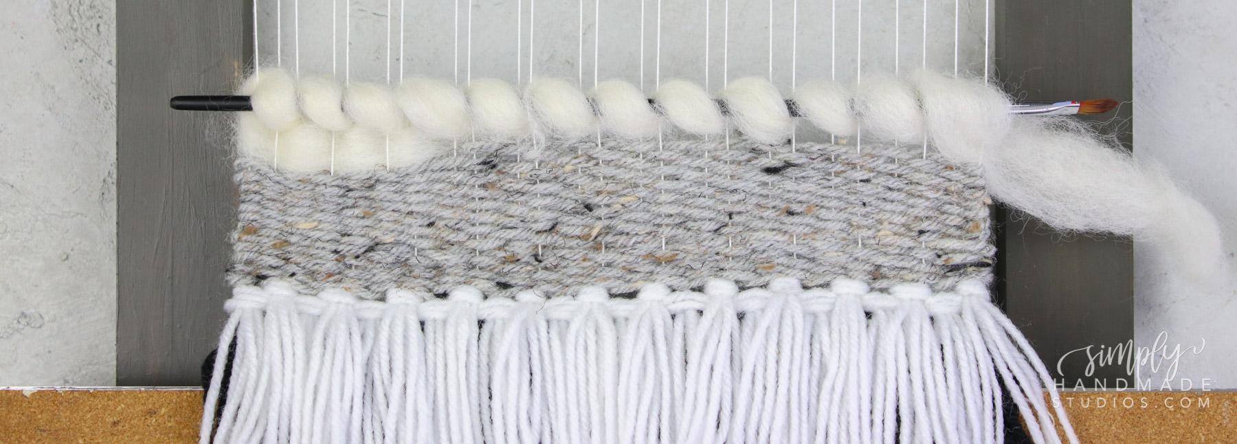 weaving yarn and roving