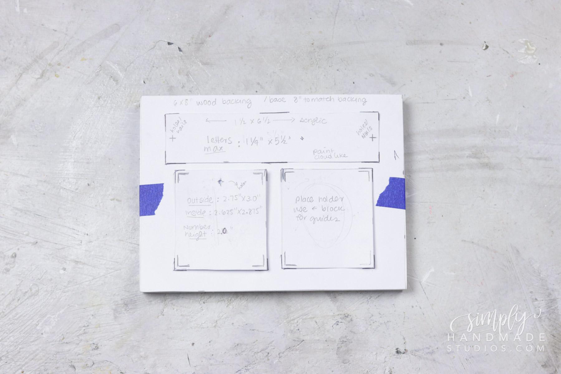 desk calendar diy
