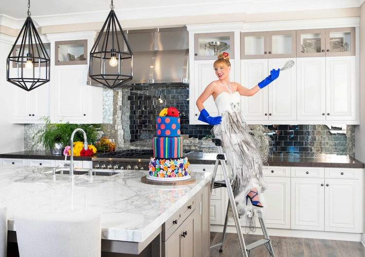 We elevate today's open kitchen design by activating the imagination.