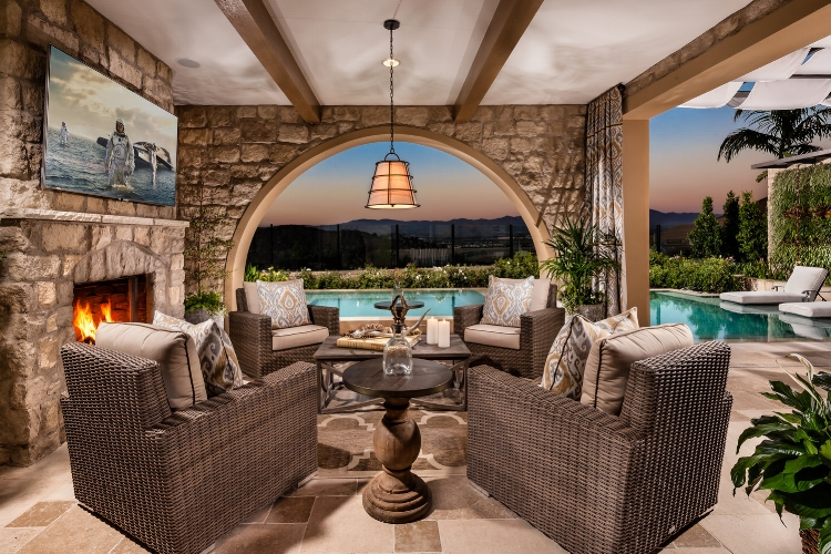 Luxury Outdoor Living in the Portofino by  Toll Brothers