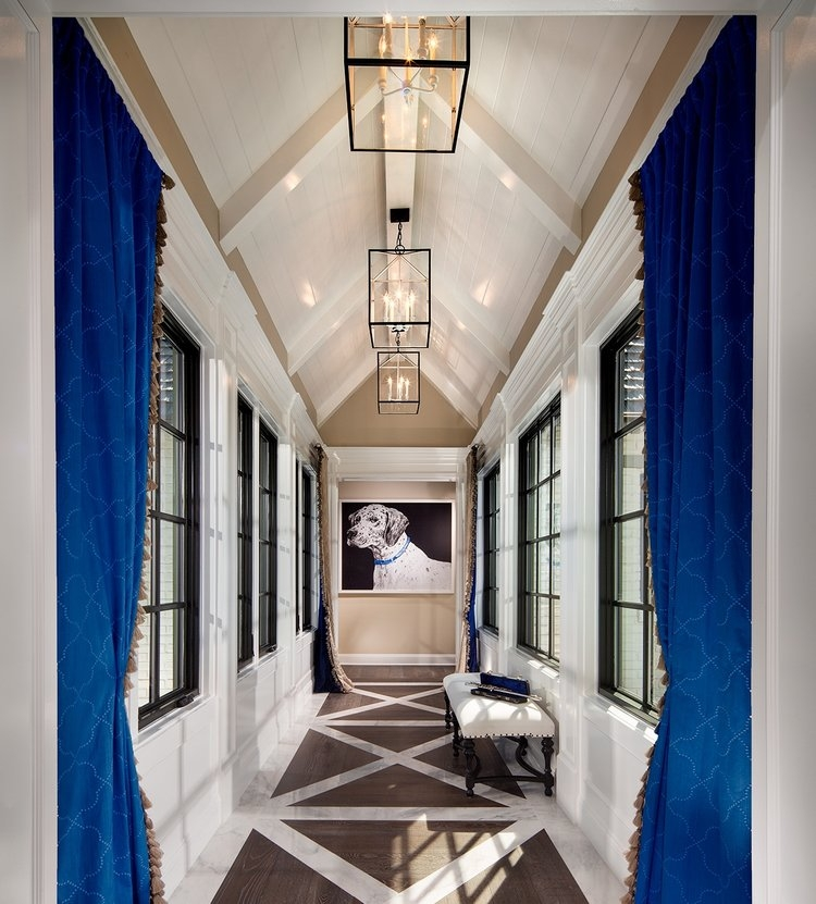 The second story bridge hallway of the Plan Three at  The Oaks Farms  by  Davidson Communities .