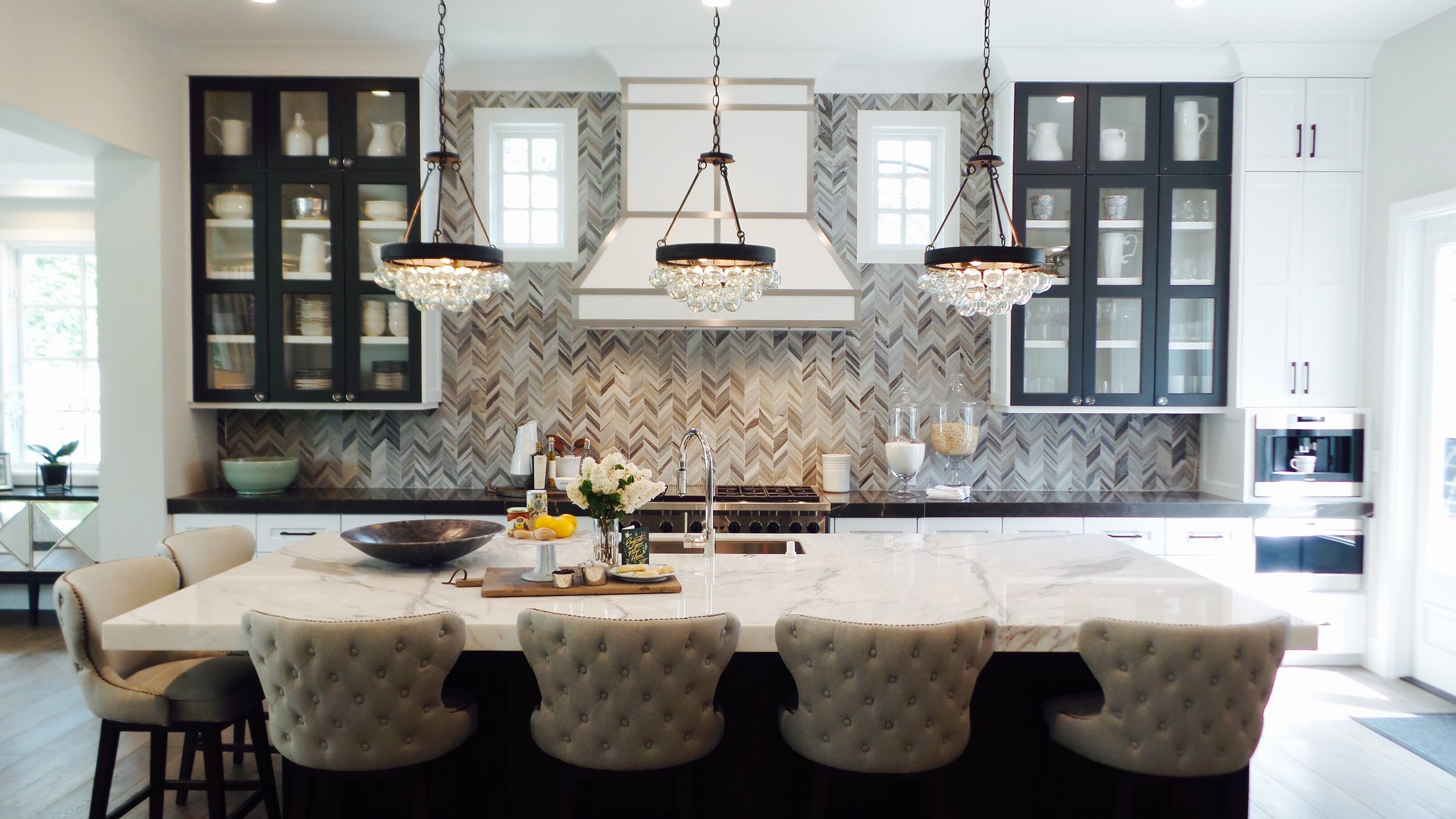 A dream kitchen for both the cook and the people lucky enough to be seated around the island.