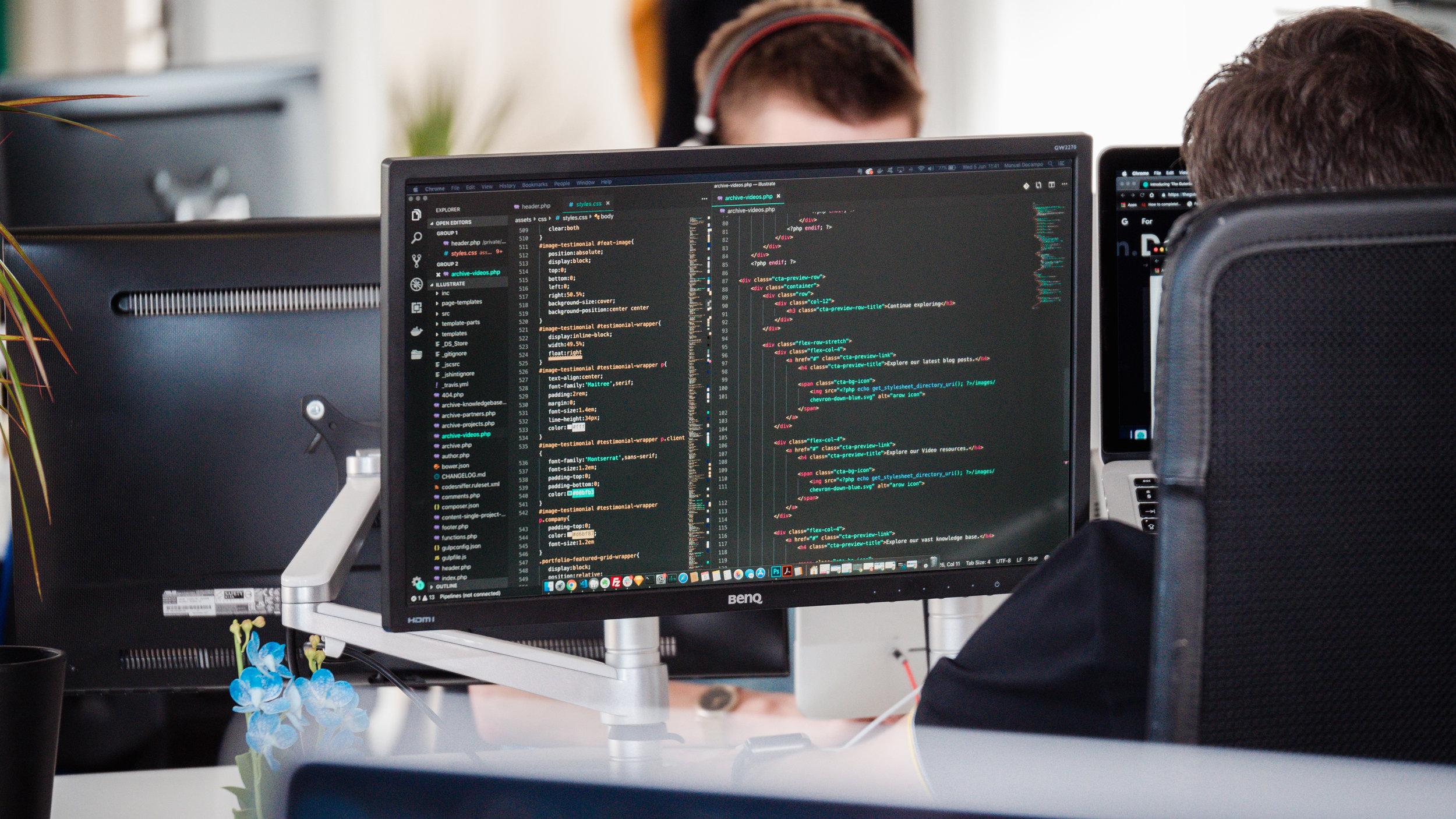 coding on computer
