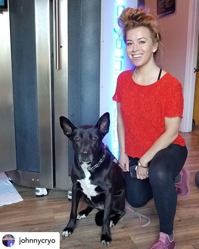 Big shout out to Tierney Powers & her beautiful dog Lani! Tierney went in to  @johnnycryo for #recovery & #preventive maintenance!  People who have #arthritis will see an increase in flexibility by over 50%. #cryo is an excellent modality for cleansing the body of #inflamation  #fibromyalgia #multiplesclerosis #anxiety #insomnia #recoverlikeapro #spartanrace #triathlon #crossfit #mountainbike #wholebodycryotherapy #johnnycryo #nolimitscryotherapy #best3minsofyourday #relieve #recover #rejuvenate #lifeistooshort #cryoinnovations