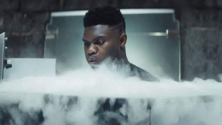 NBA Pelican's Zion Williamson in the XR Cryotherapy Chamber