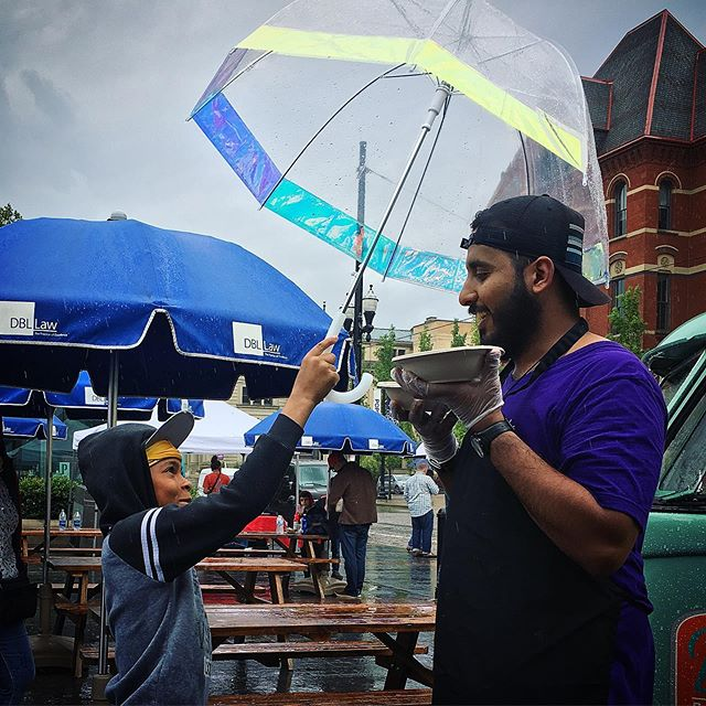 Moments of joy at today's wet @thecityflea. :^} #thisisotr #indianinspired