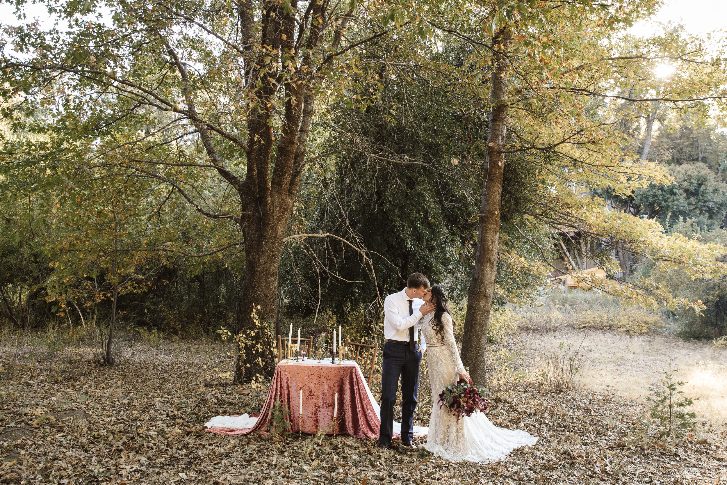 A WOODLAND WEDDING. - A PRIVATE OASIS TUCKED AWAY IN THE WOODS.