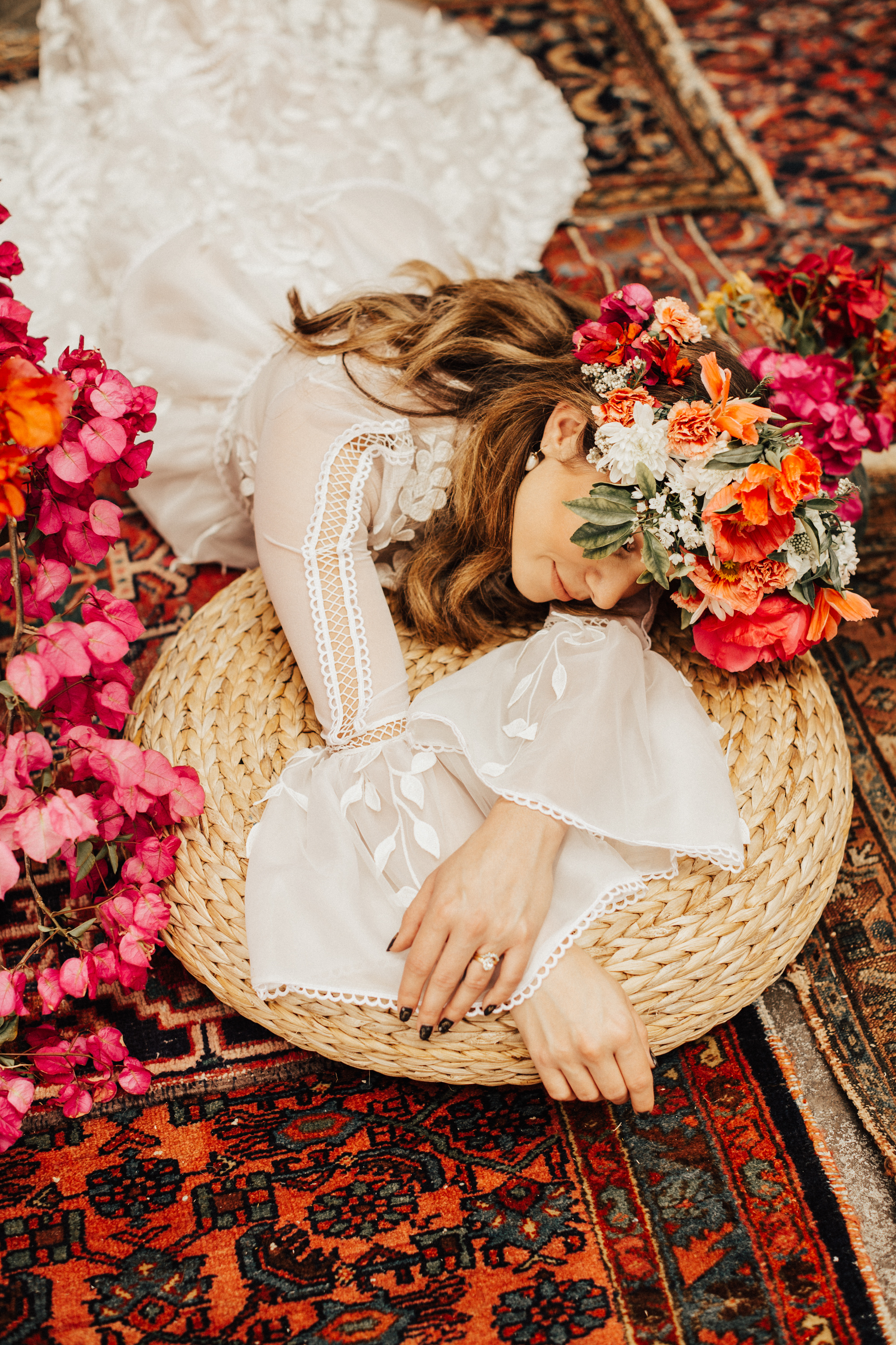 A BOUGAINVILLEA HEAVEN. - FEATURED ON GREEN WEDDING SHOES.