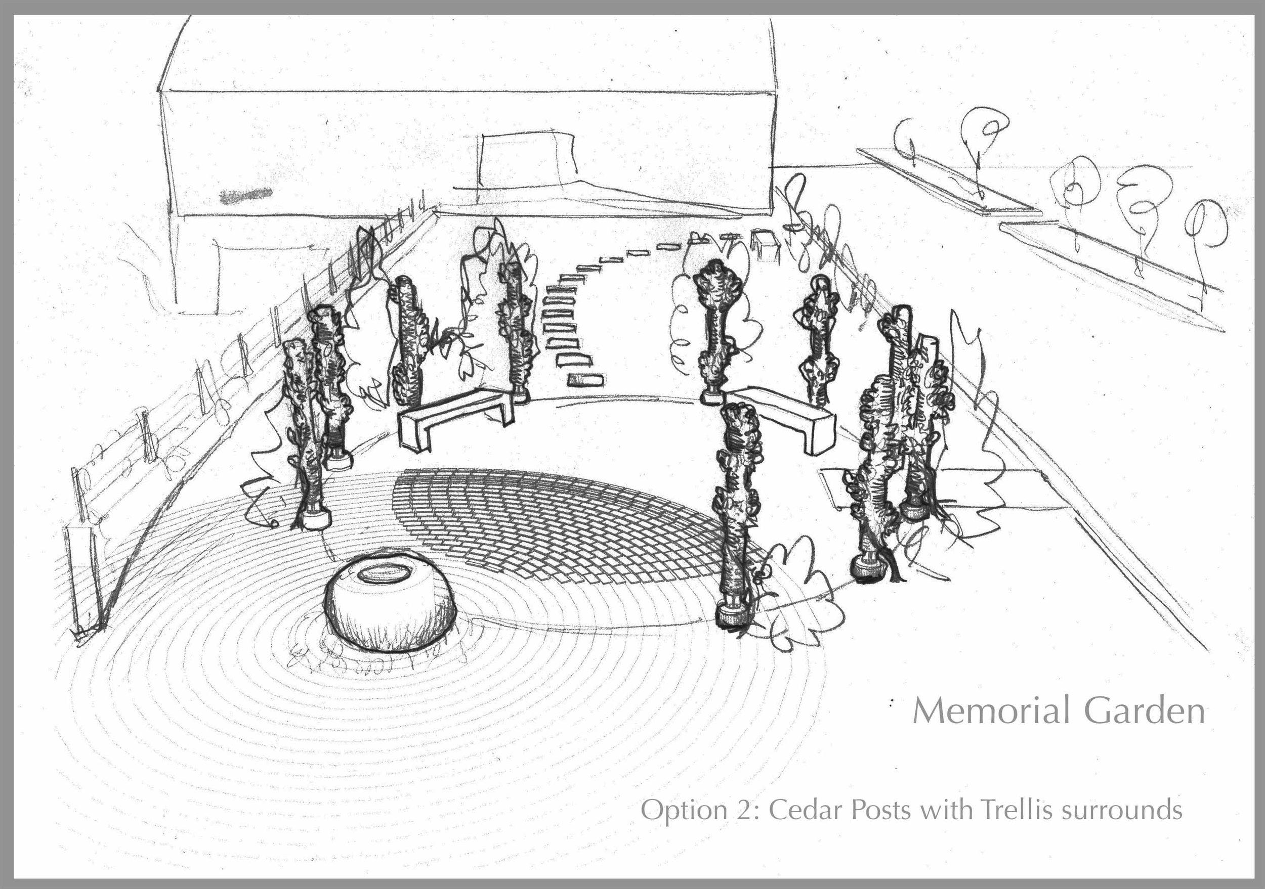 Memorial Garden sketch