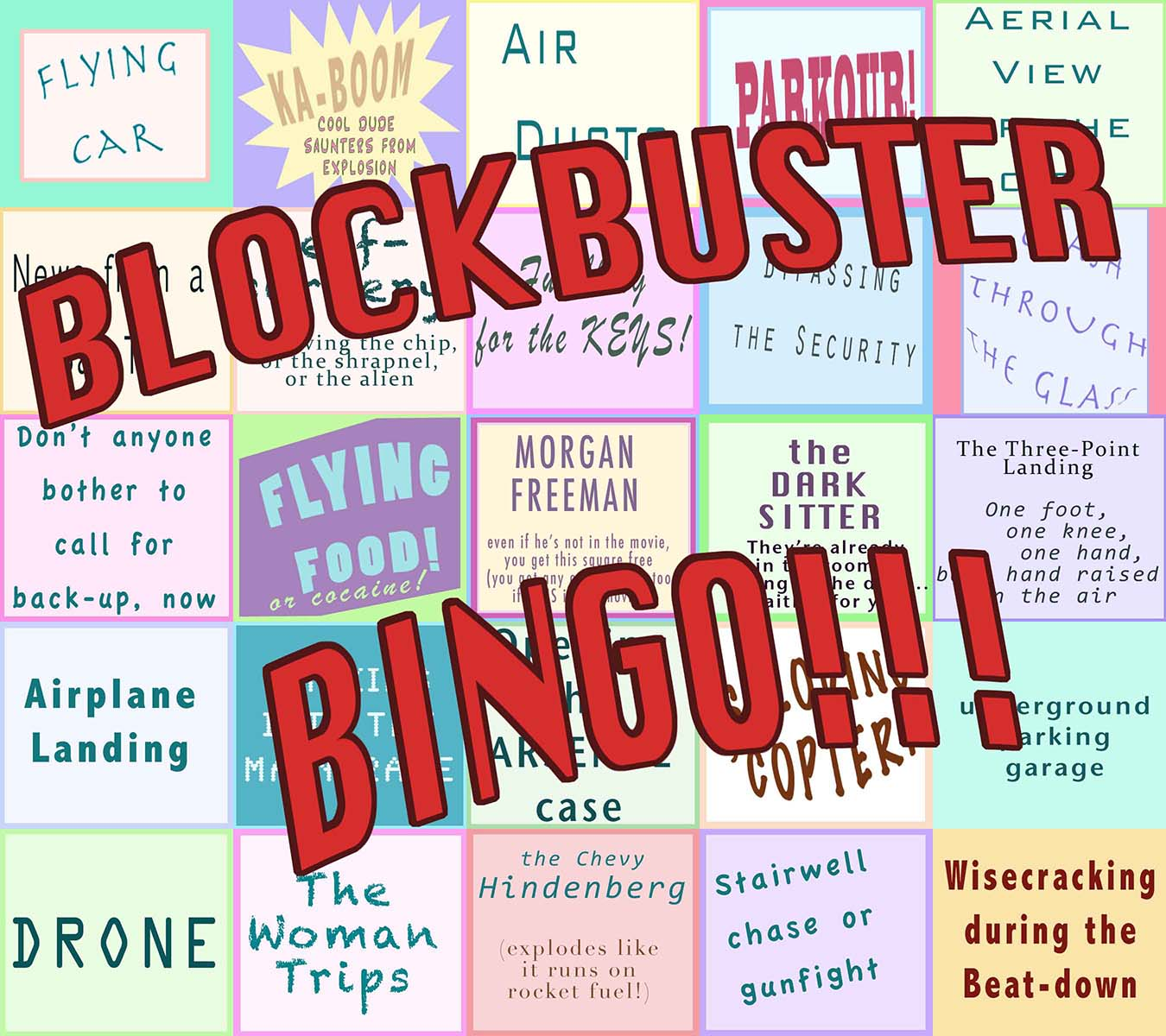 BLOCKBUSTER BINGO! - Play the game that makes bad movies a blast. Click through to download.