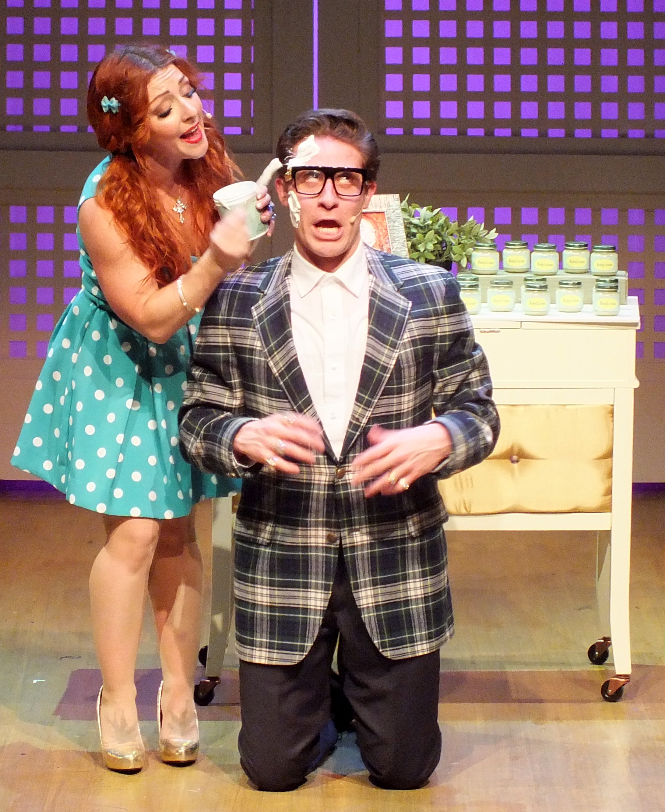 """meet the man - MARC GINSBURG - Marc is thrilled to return to the Housewives after playing all 18 of these crazy roles in the LA premiere of The Real Housewives of Toluca Lake at the Falcon/Garry Marshall Theatre in 2016! Southern California theater: Che (Evita; Ovation Nomination), Aaron (First Date; Ovation Nomination), Lord Farquaad (Shrek; San Diego Critics Nomination), Lumiere (Beauty and the Beast), Quixote/Cervantes (Man of La Mancha), Leo Bloom (The Producers), Chauvelin (The Scarlet Pimpernel), Sir Lancelot, et. al. (Spamalot), and many others. Film: """"Racing Colt"""" (check it out on Amazon Prime!)."""