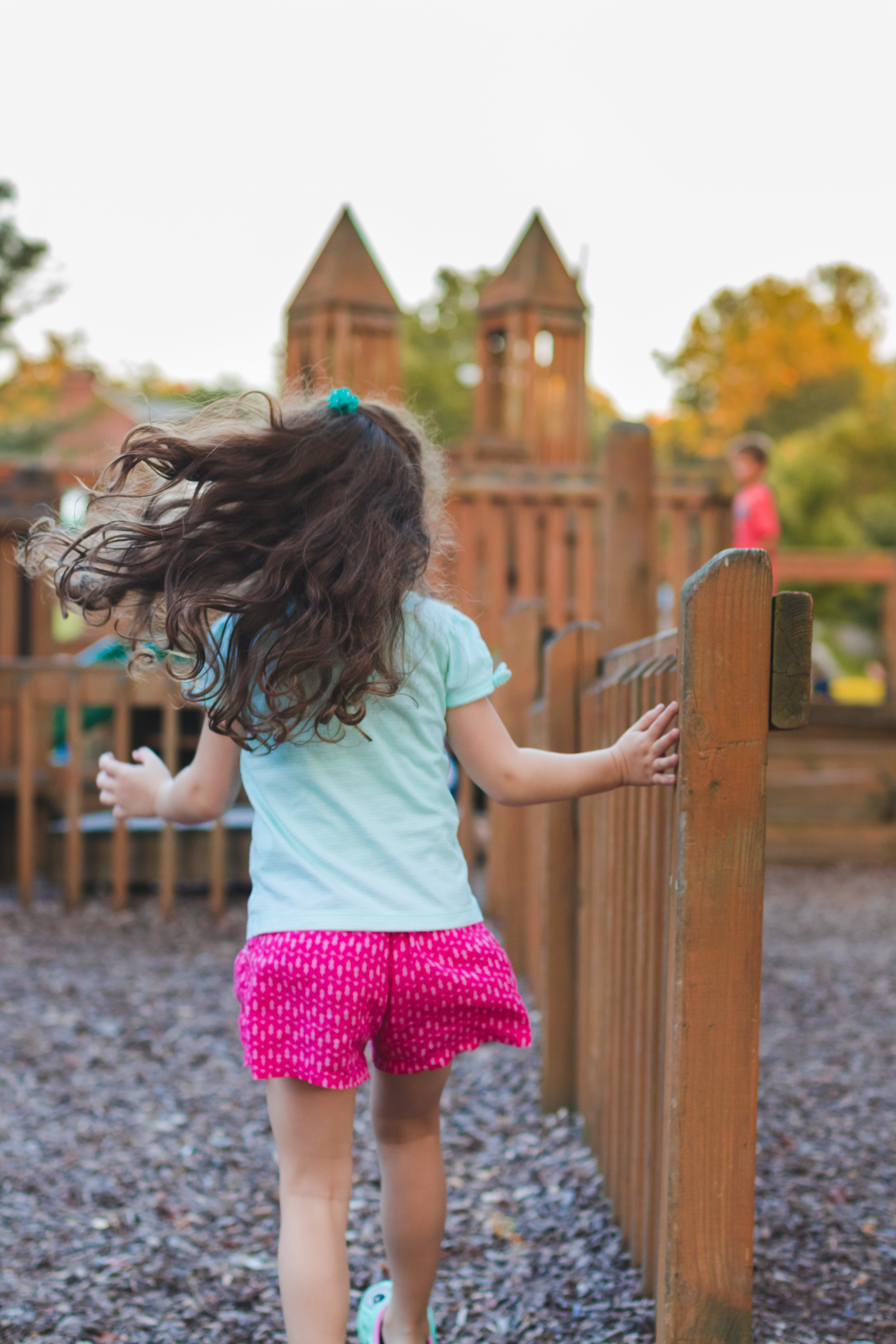 Girl plays on Dormont Playground