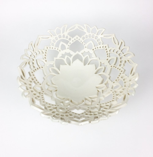Lace Bowl in White