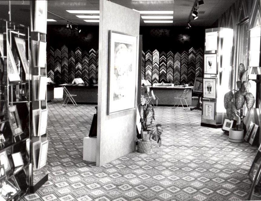 Interior of first retail location in Edina, MN  1978