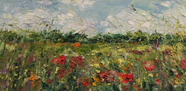 Poppies and Field