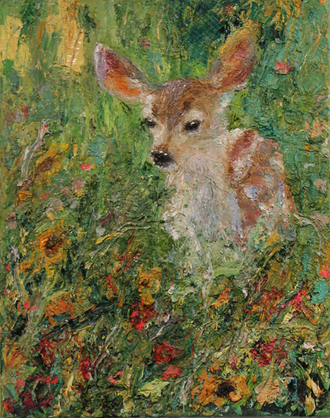 Fawn and Foliage