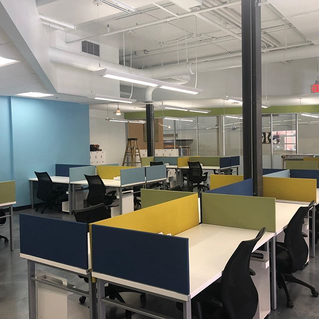 Wrapped up the new @carmax corporate offices in #shockoebottom alongside @gilbanebuilding the space turned out great!  #office #carmax #renovation #teamwork #adaptivereuse @hok_dc