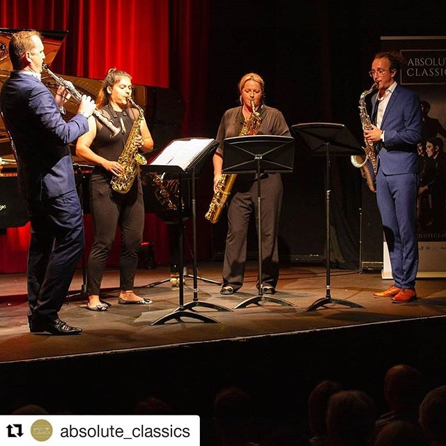 #Repost @absolute_classics (@get_repost) ・・・ The amazing @huwwiggin_sax and the Ferio Saxophone Quartet at the @absolute_classics festival 2019 @theatreroyaldumfries @dgwgo #classicalmusicfestival