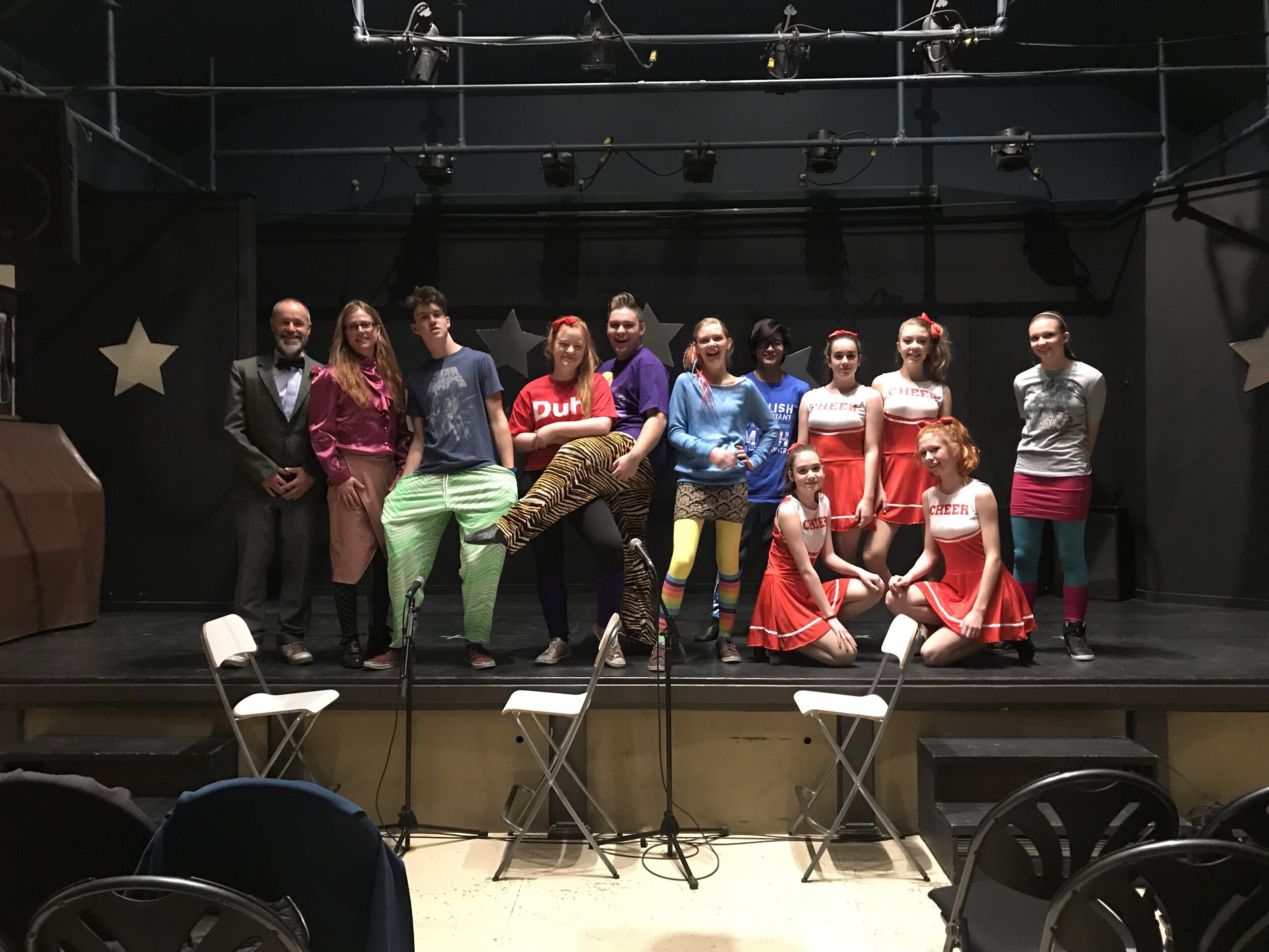 The Cast of Back to the 80's: Do they Know It's Christmas. December 2018  The Arts Station Main Stage