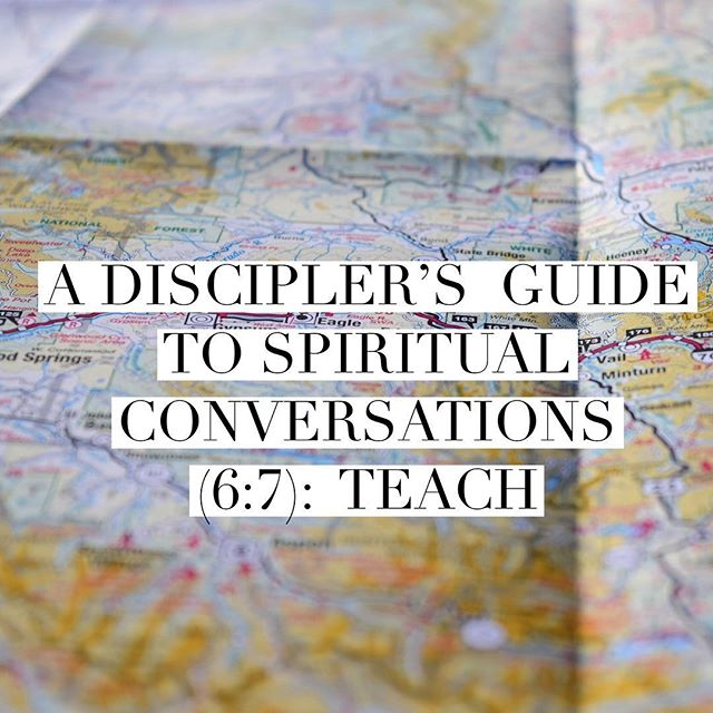 Next installment of our blog series➡️➡️ A Discipler's Guide to Spiritual Conversations (6/7): Teach by @beardedboyd  Link in bio.