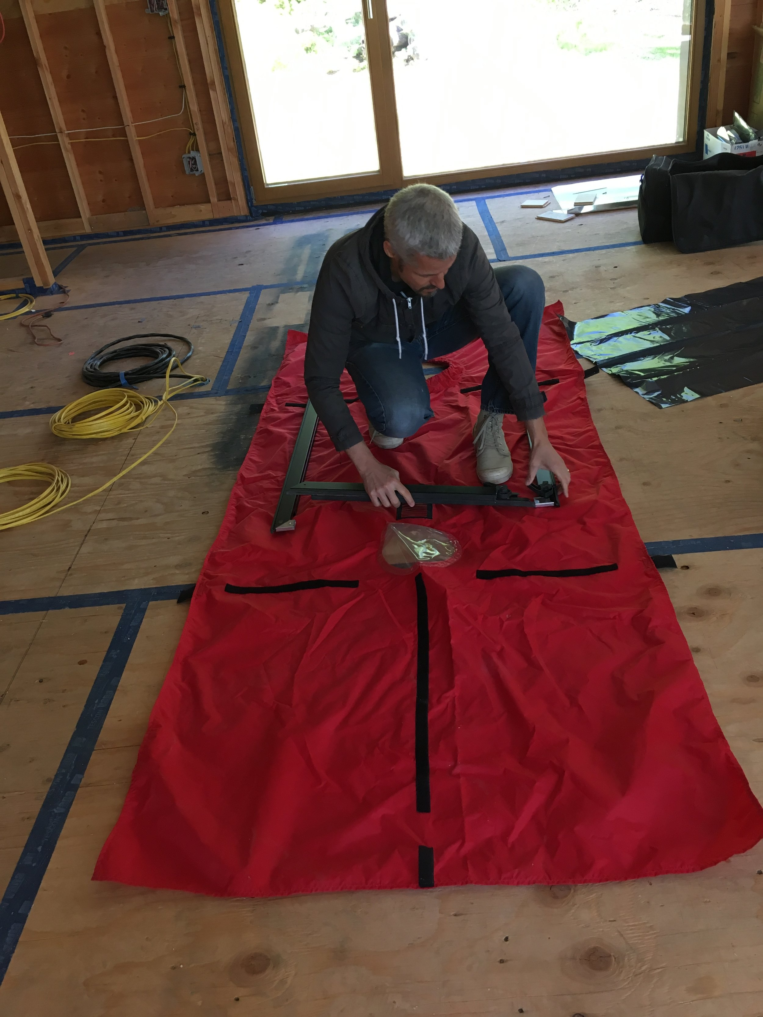 Blower Door Test Cover