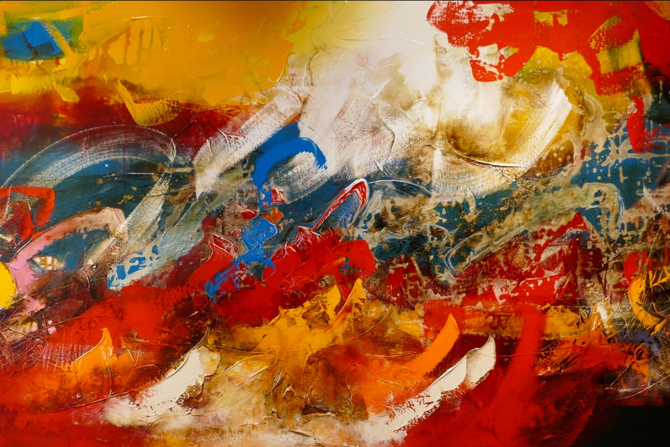 William Malucu, acryl op canvas