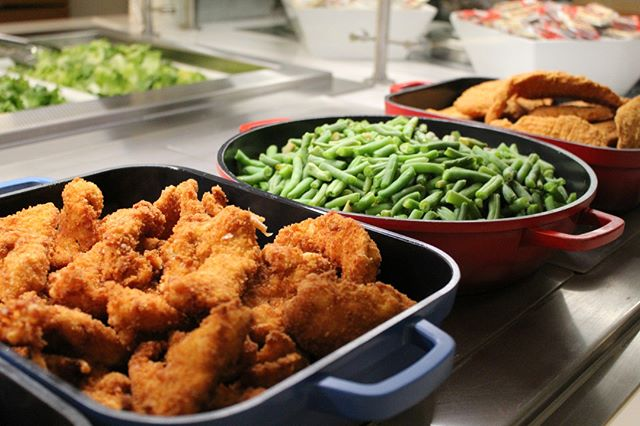 Get 'em while they're hot at Community Garden! Our hot bar is stocked with the dishes you are craving!
