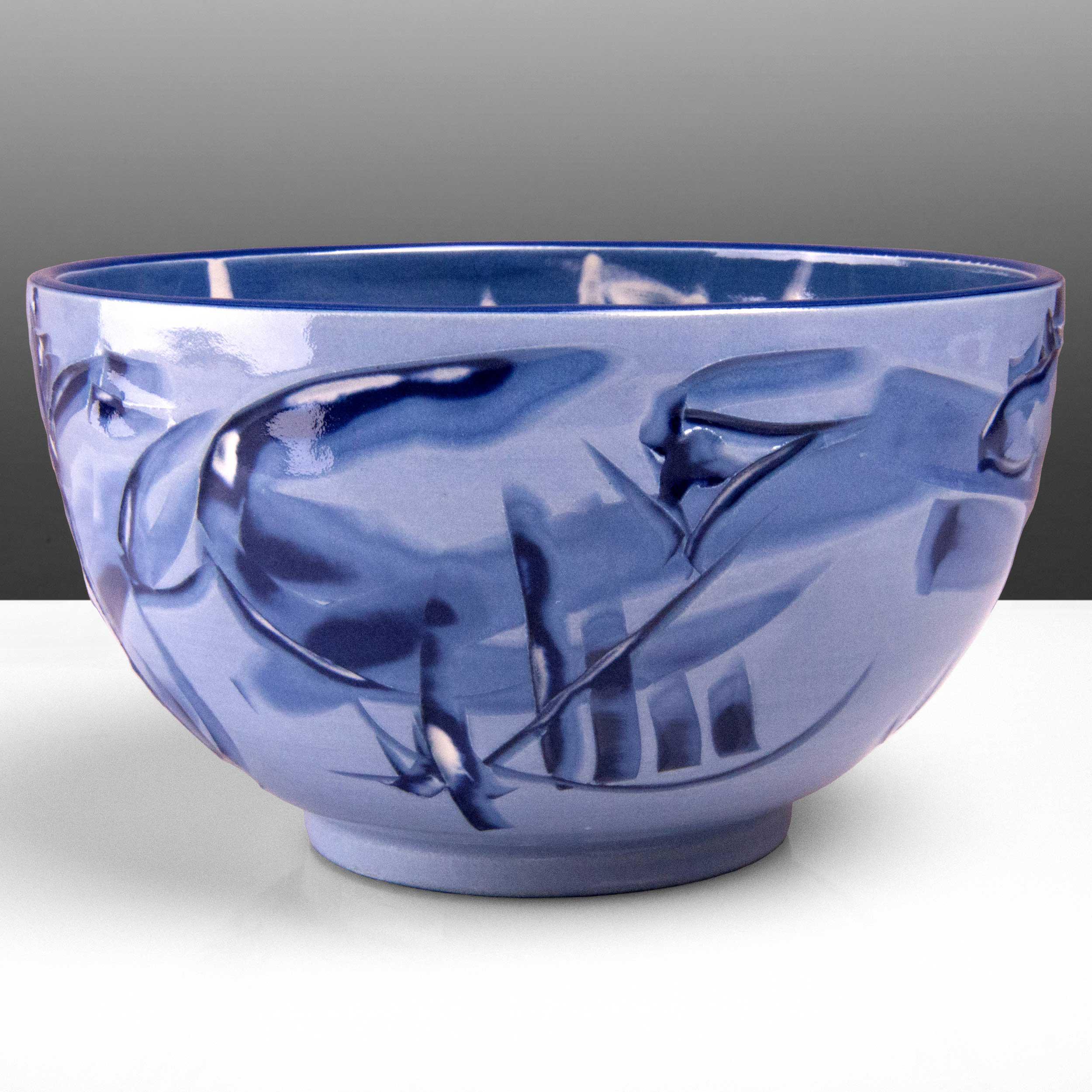 Lilac Purple Ceramic Bowl Reef Series by Rowena Gilbert