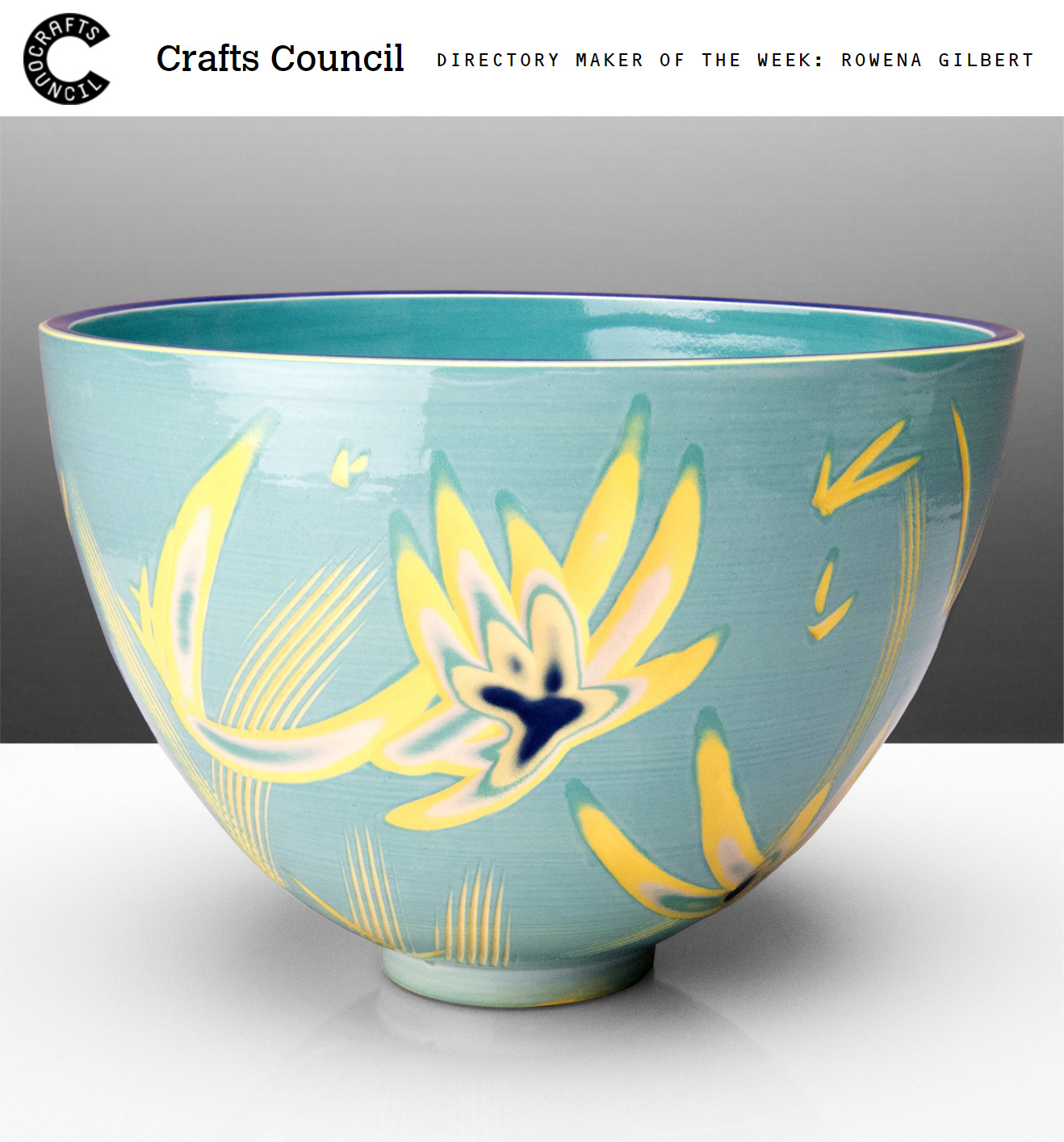 Please Click on Image to Read Interview   Please click here to view my Crafts Council Directory Profile