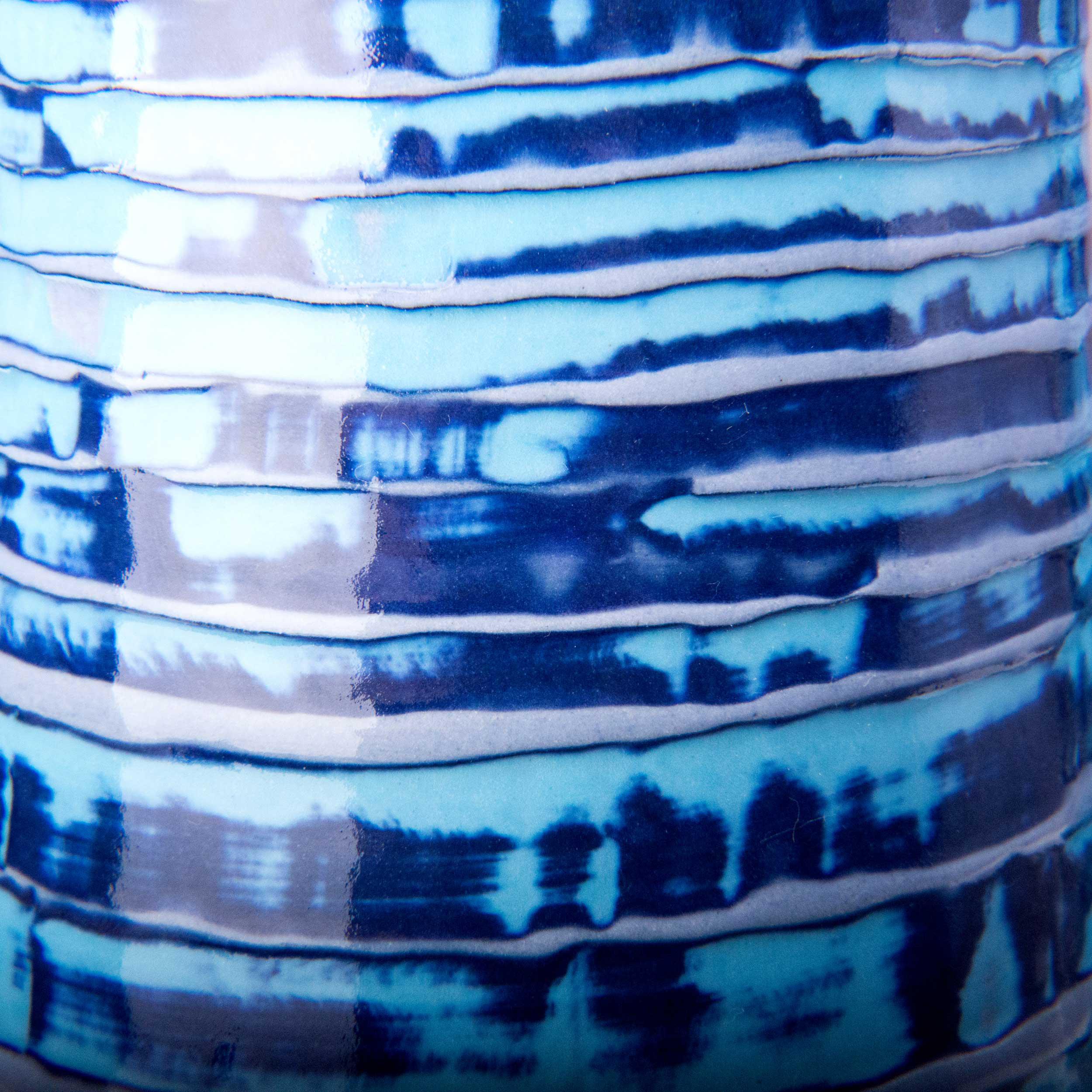 Blue Purple Clay Slip Texture Reef Series by Rowena Gilbert