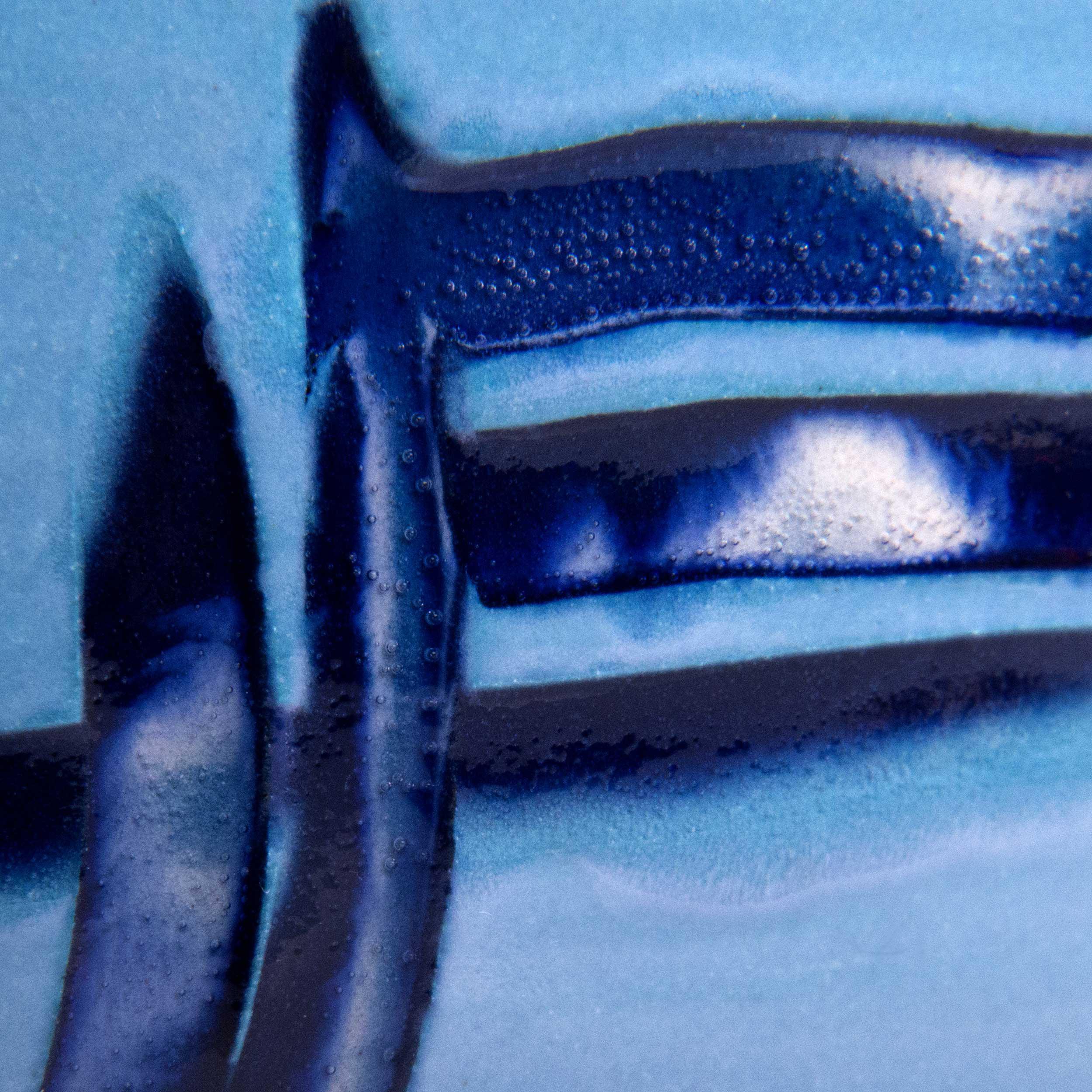 Cobalt Blue Pale Blue Ceramic Glaze Effect by Rowena Gilbert