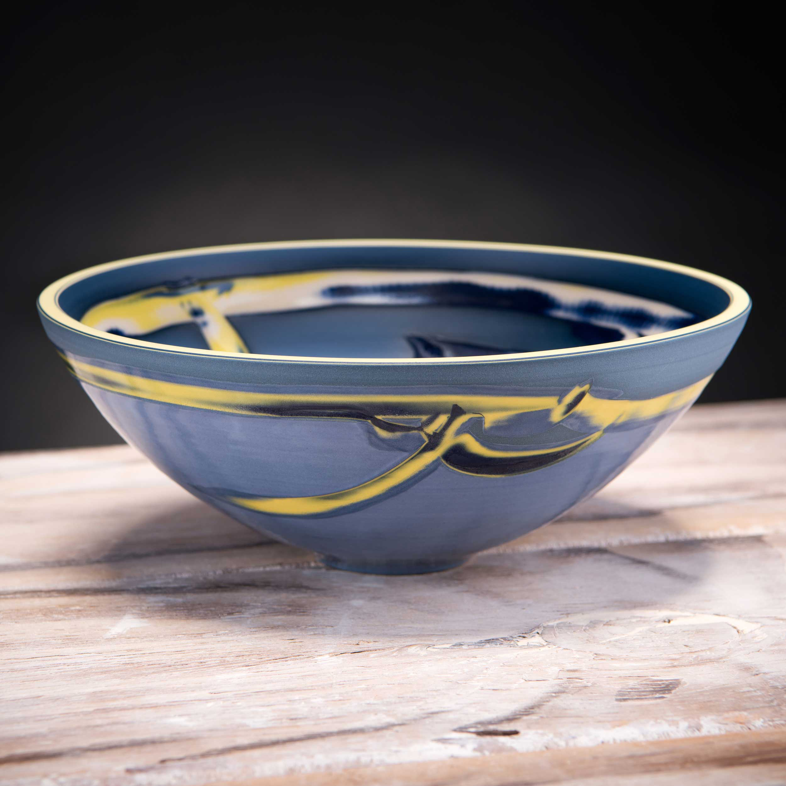 Blue Low Centre Bowl Coast Series by Rowena Gilbert