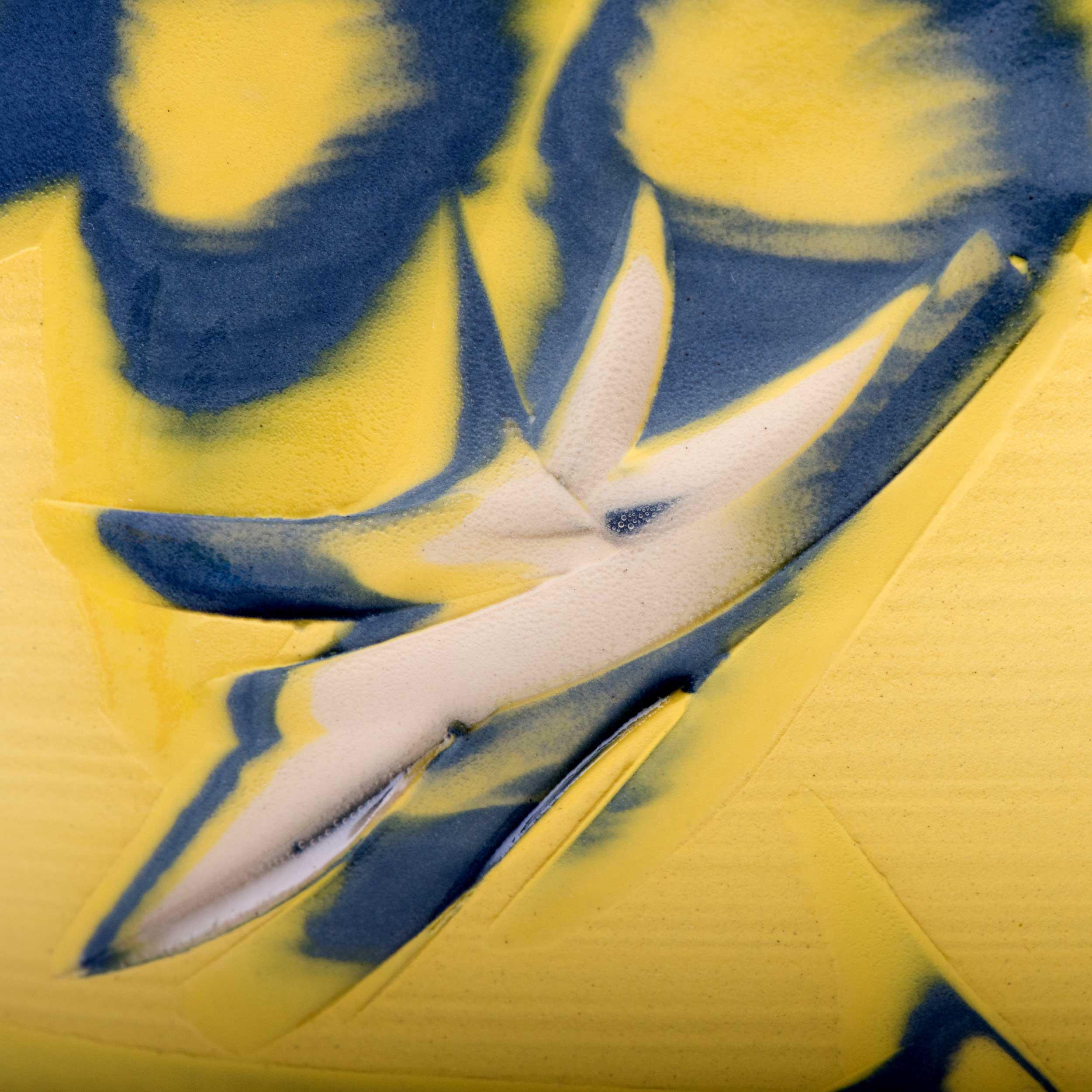 Yellow Blue Clay Pattern Coast Series by Rowena Gilbert