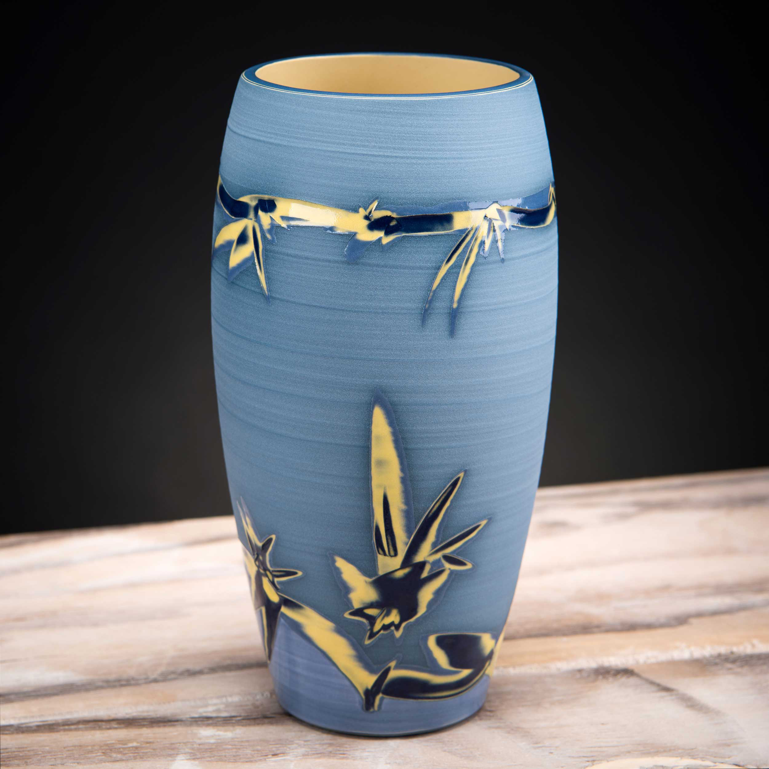 Pale Blue Ceramic Vase by Rowena Gilbert