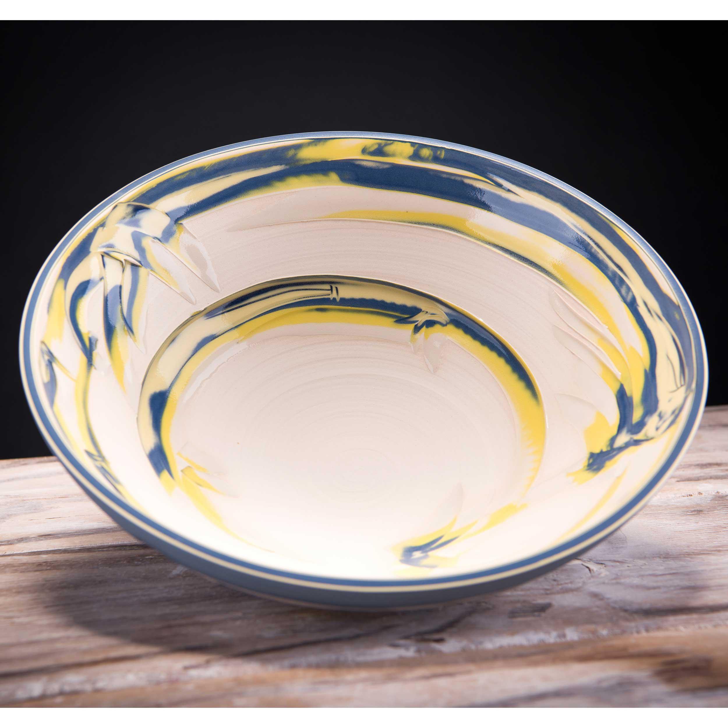 Large Ceramic  Bowl Coast Series by Rowena Gilbert
