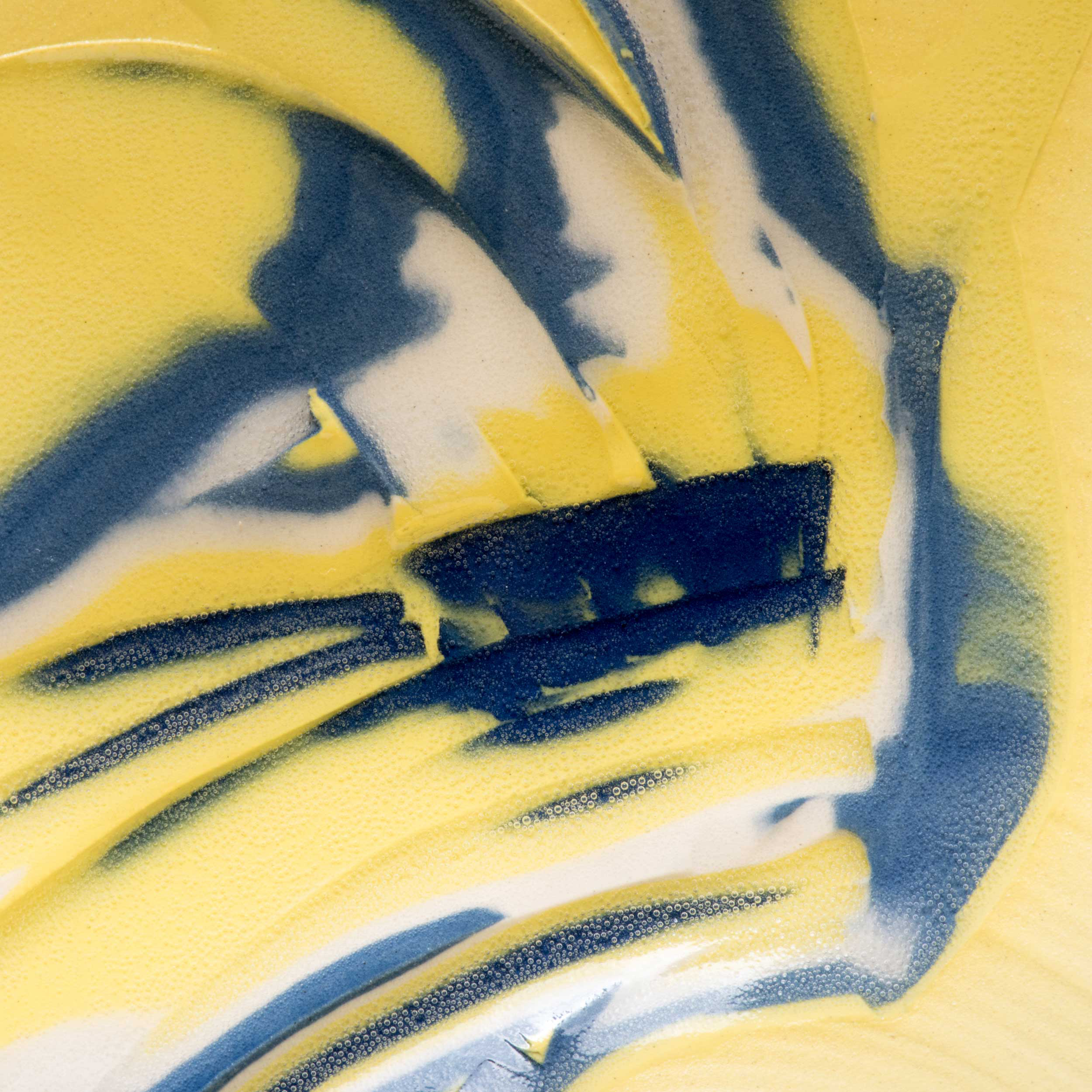 Yellow Sgraffito Ceramic Detail by Rowena Gilbert