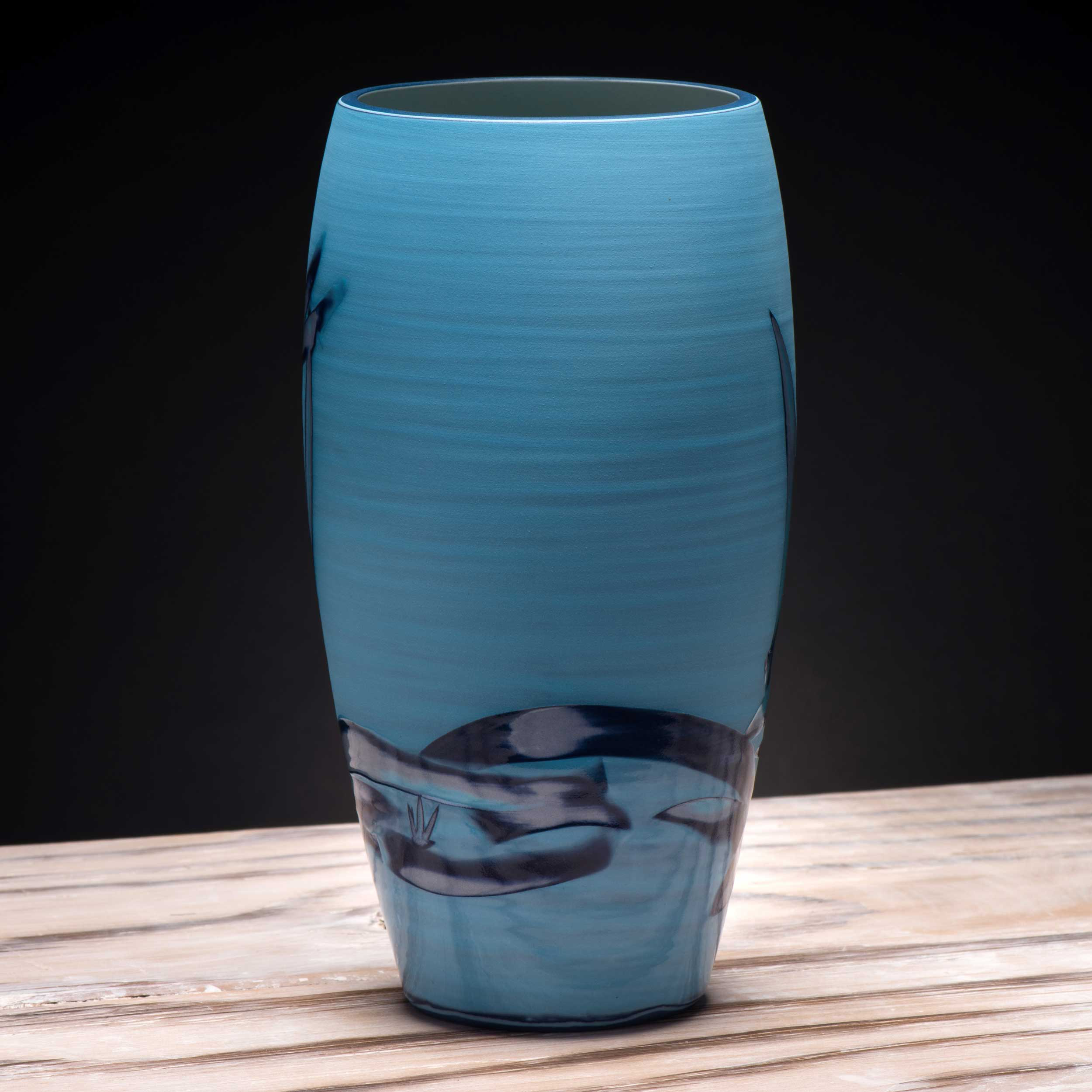 Tropical Sea Ceramic Vase by Rowena Gilbert in Turquoise Electri