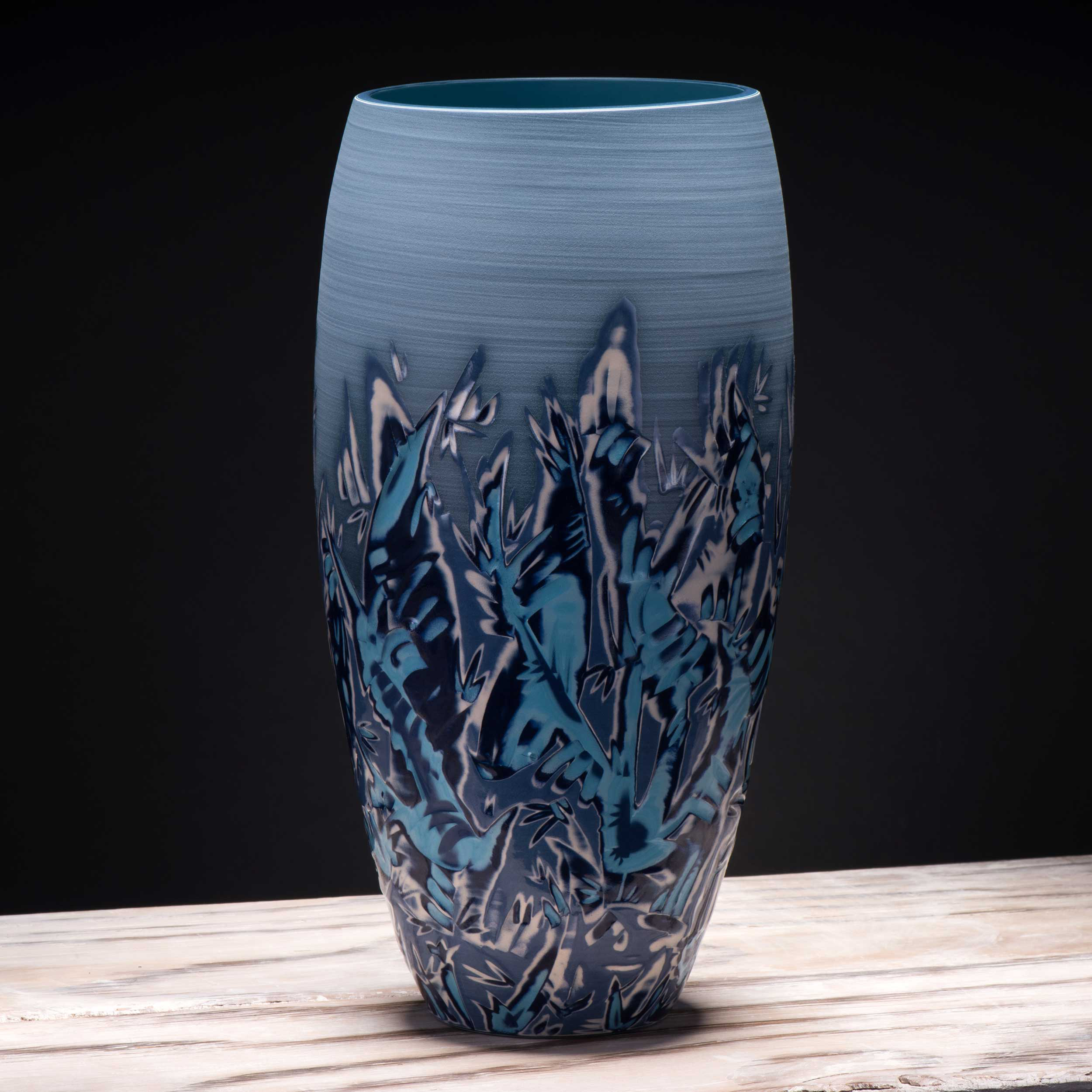 Sea Ocean Ceramic Vase Seascape Ceramics by Rowena Gilbert