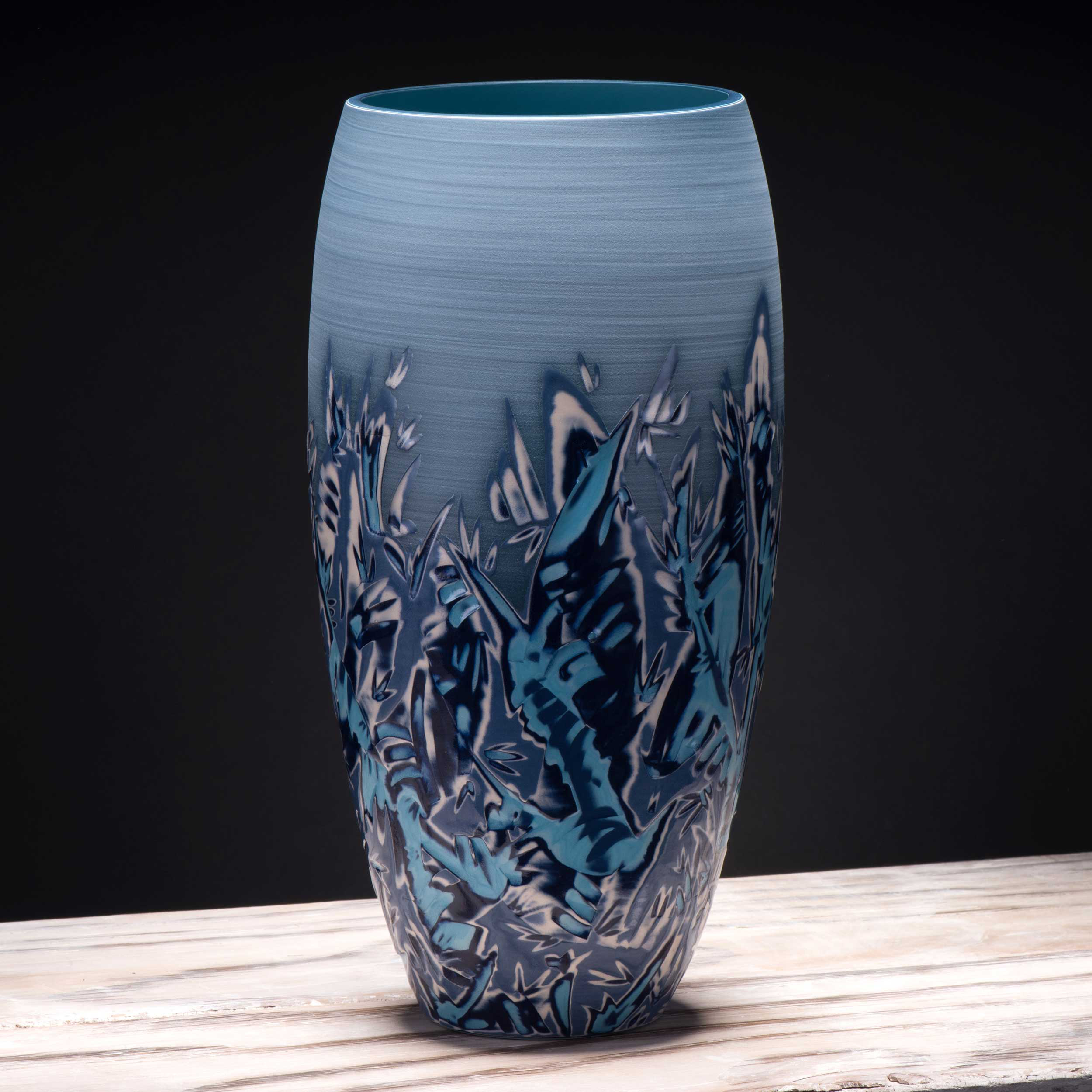 Large Blue Sea View Vase Coast Ceramics by Rowena Gilbert