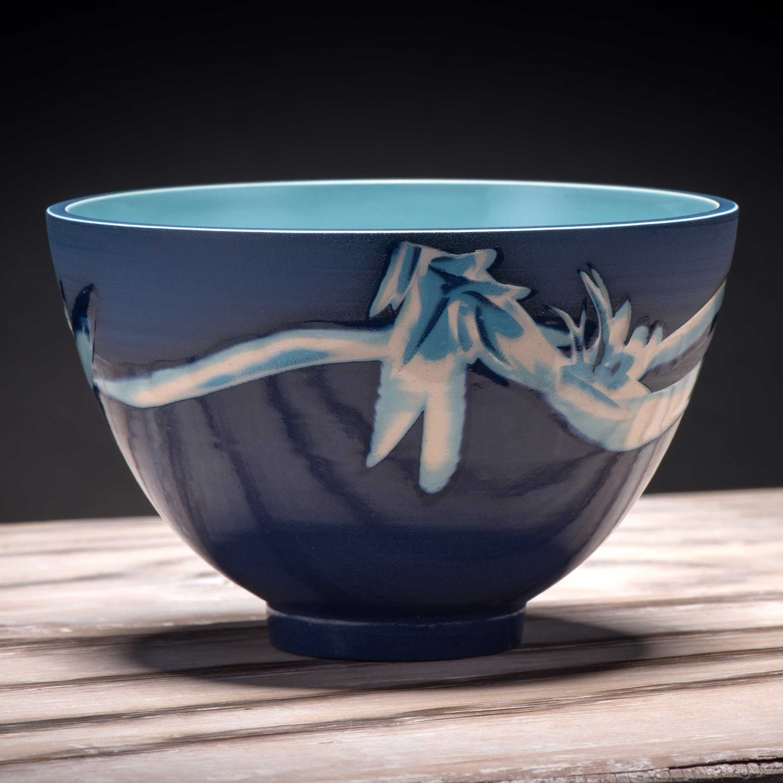Stormy Sea Art Design Ceramic Bowl by Rowena Gilbert Coast Colle