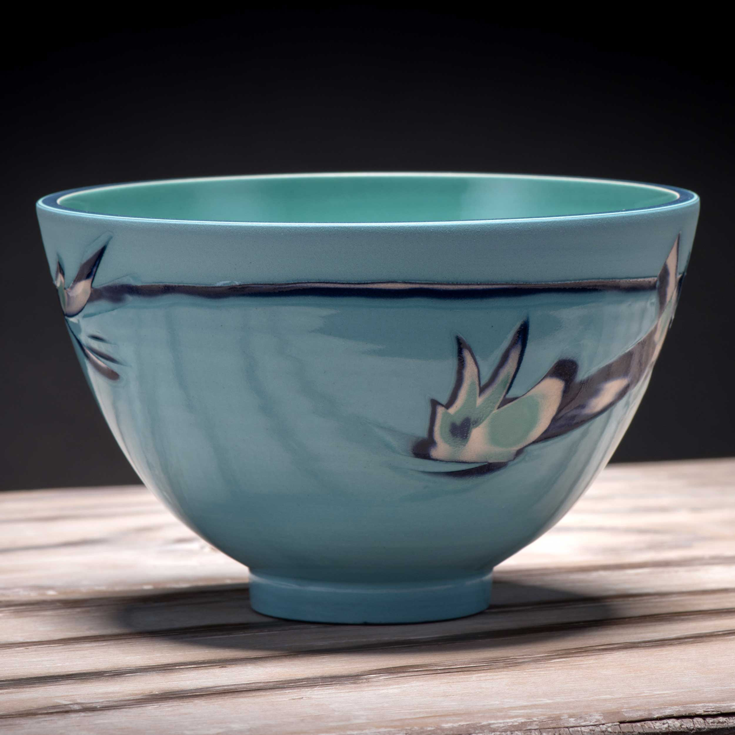 Aquamarine Rice Bowl by Rowena Gilbert Coast Series