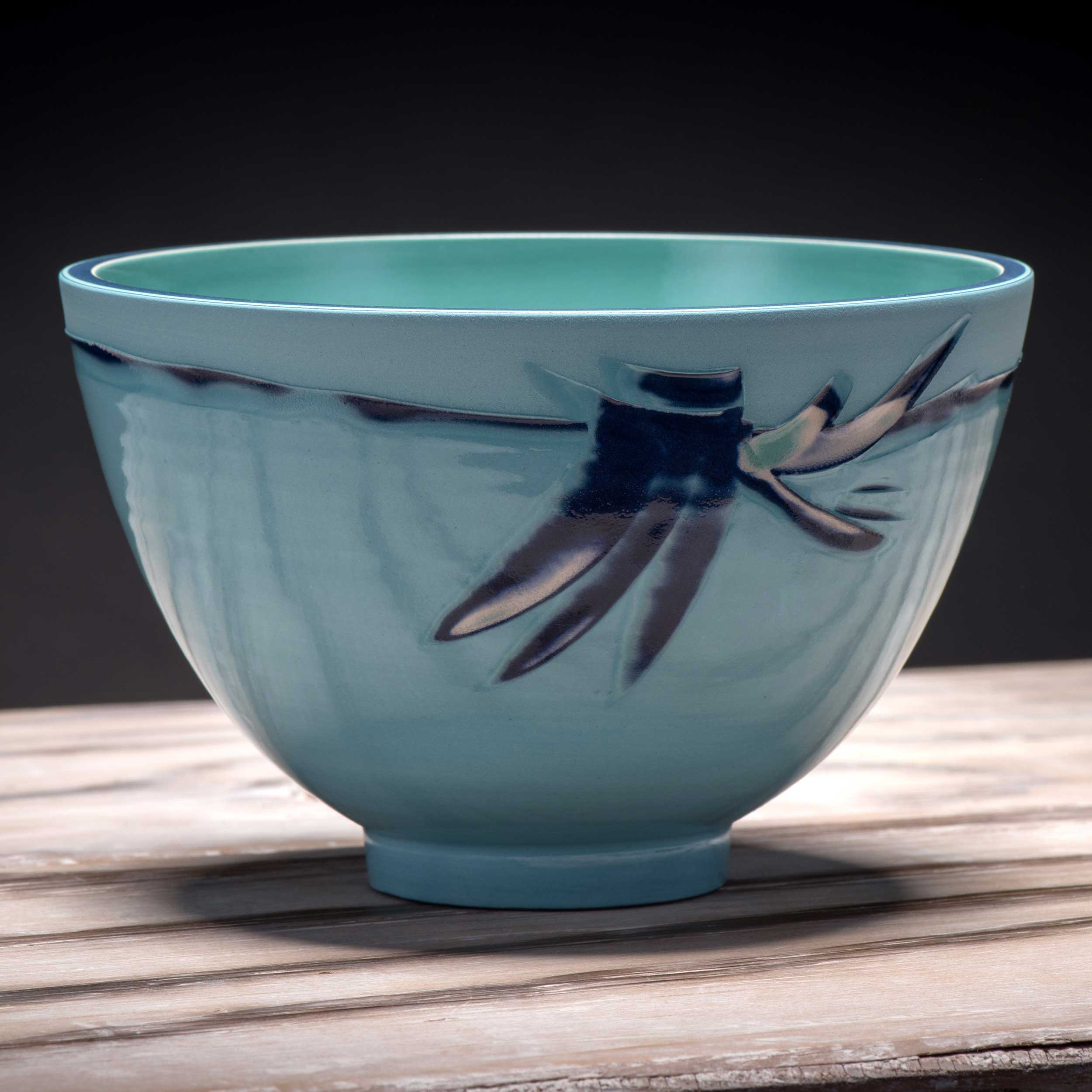 Copy of Ceramic Rice Bowl Turquoisee Blue by Rowena Gilbert Coast Series