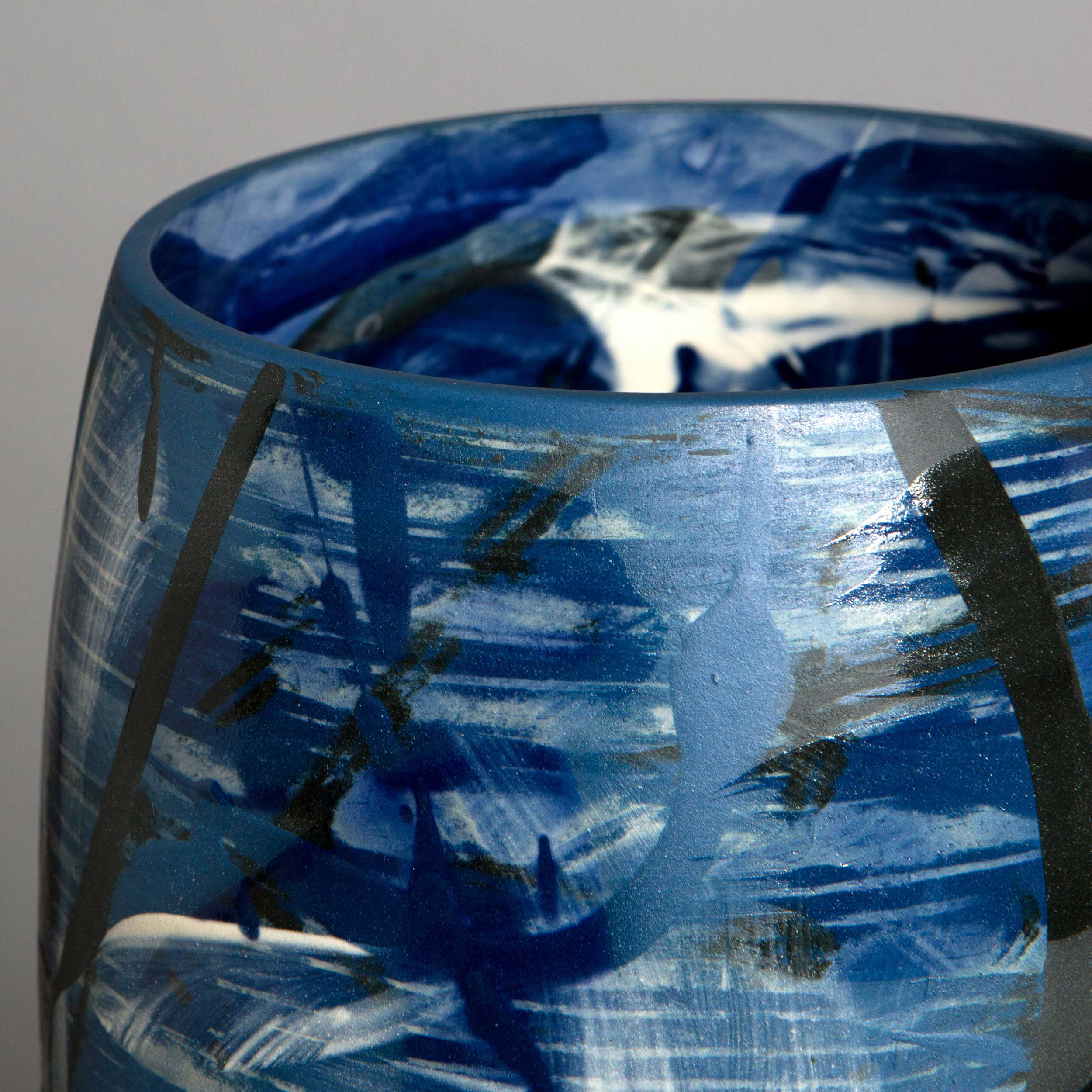 Under the Waves Ceramic Vase Detail by Rowena Gilbert
