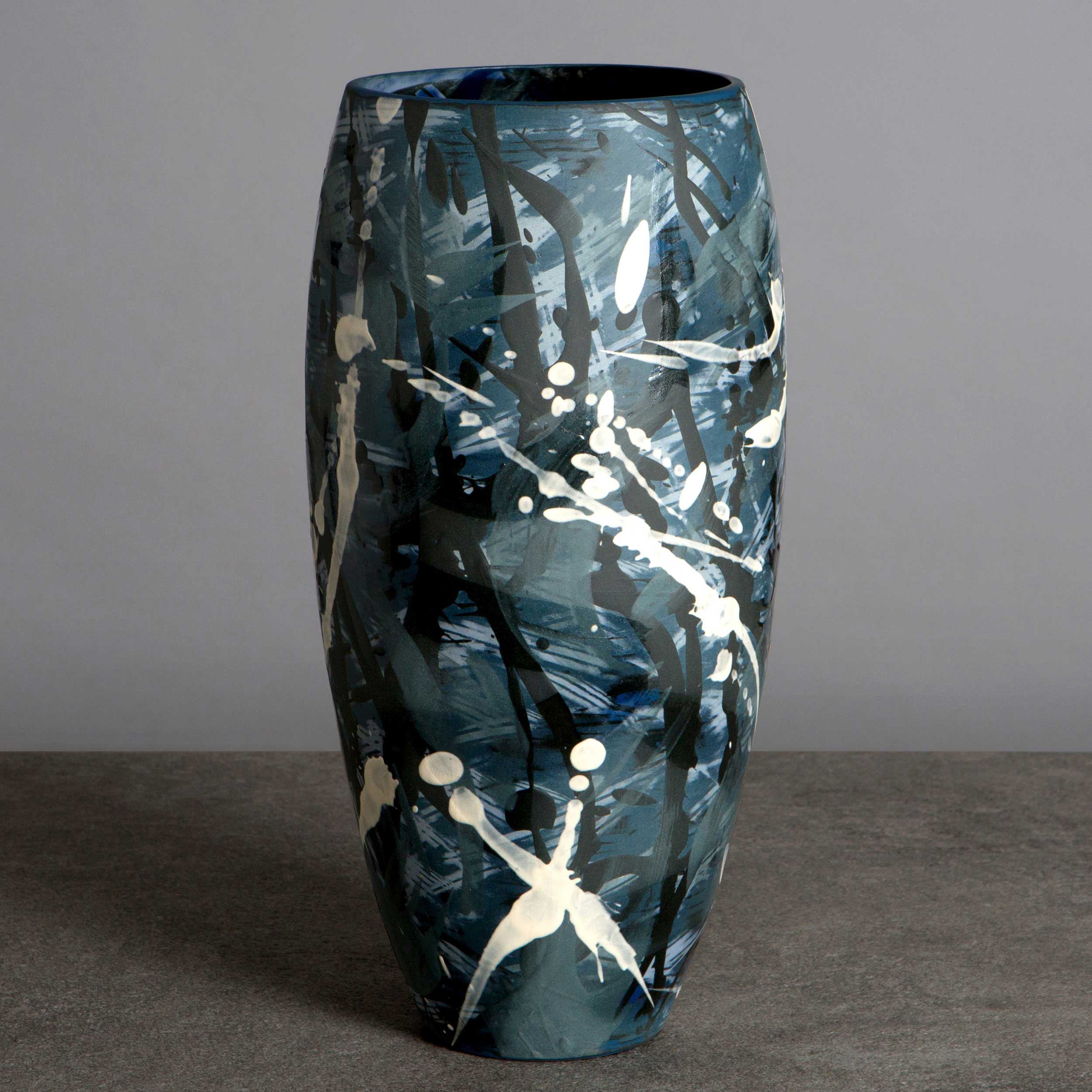 Under the Waves Ceramic Large Vase By Rowena Gilbert