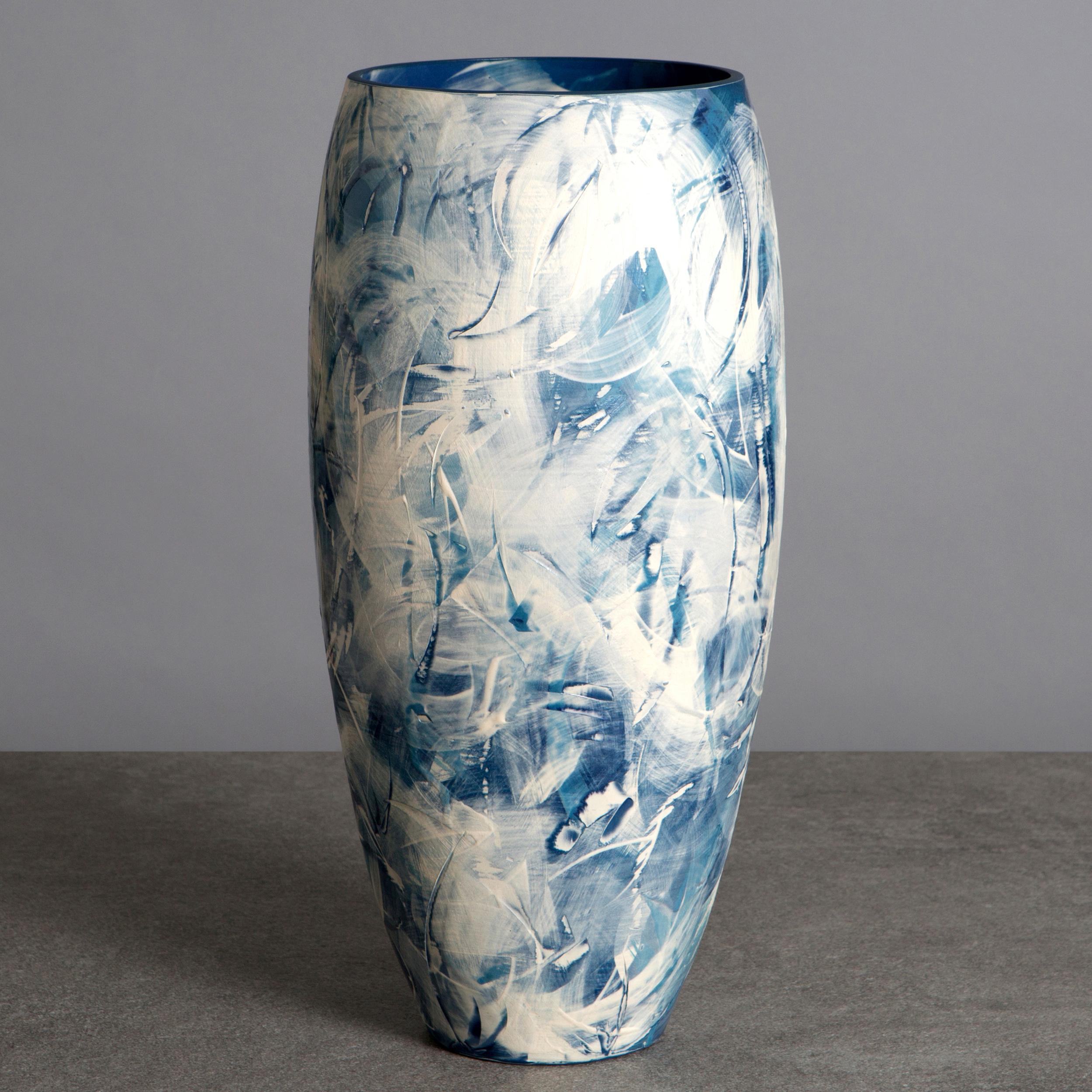 Sea Spray Waves Ceramic Vase by Rowena Gilbert